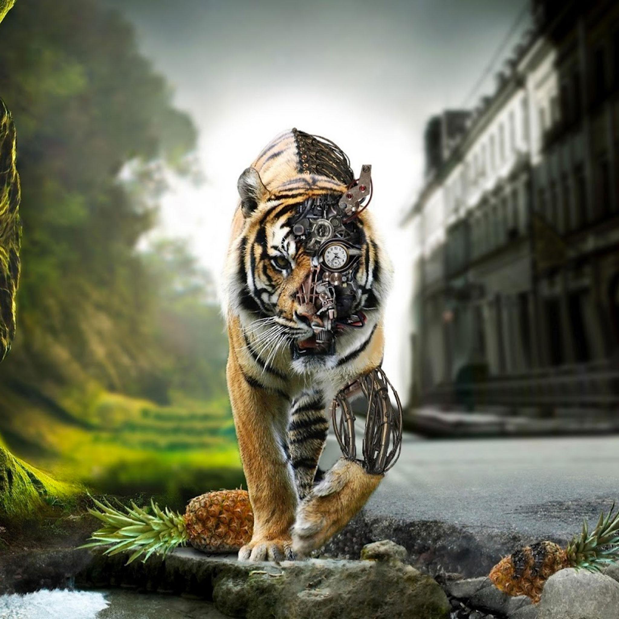 Futur Tiger Ipad Retina Wallpaper For Iphone X 8 7 6 Free