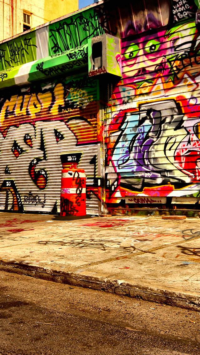 Wall Grafitti Art 3Wallpapers iPhone Wall Grafitti Art