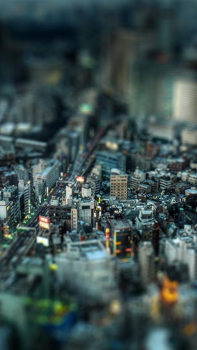 City Street Tilt Shift Tokyo 3Wallpapers IPhone