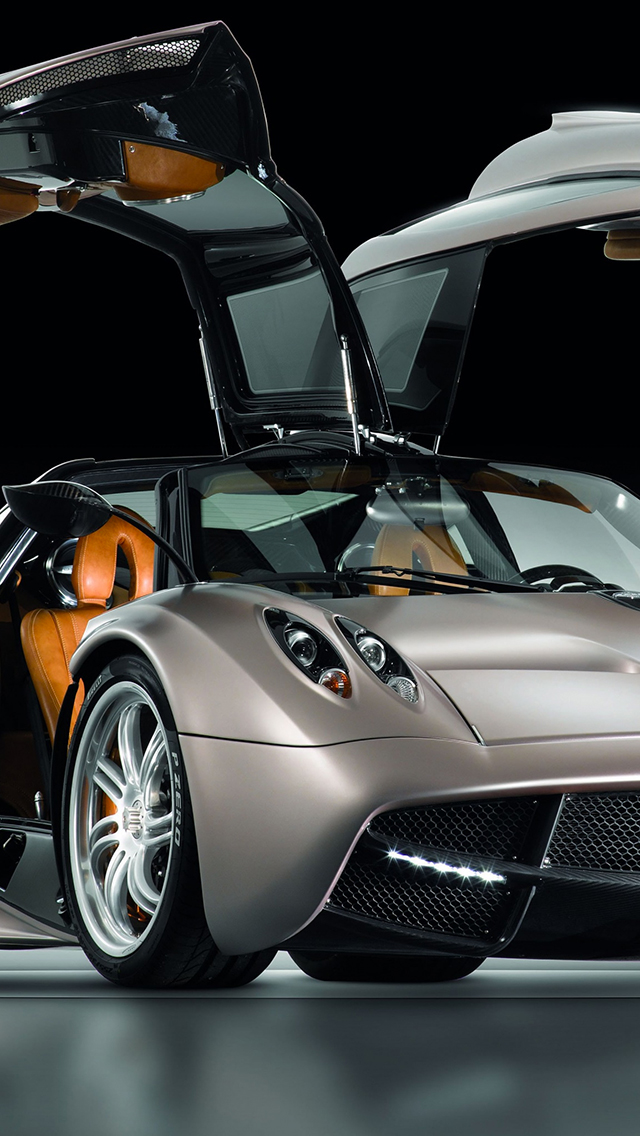 Pagani Huayra Gunmetal 3Wallpapers iPhone Pagani Huayra Gunmetal