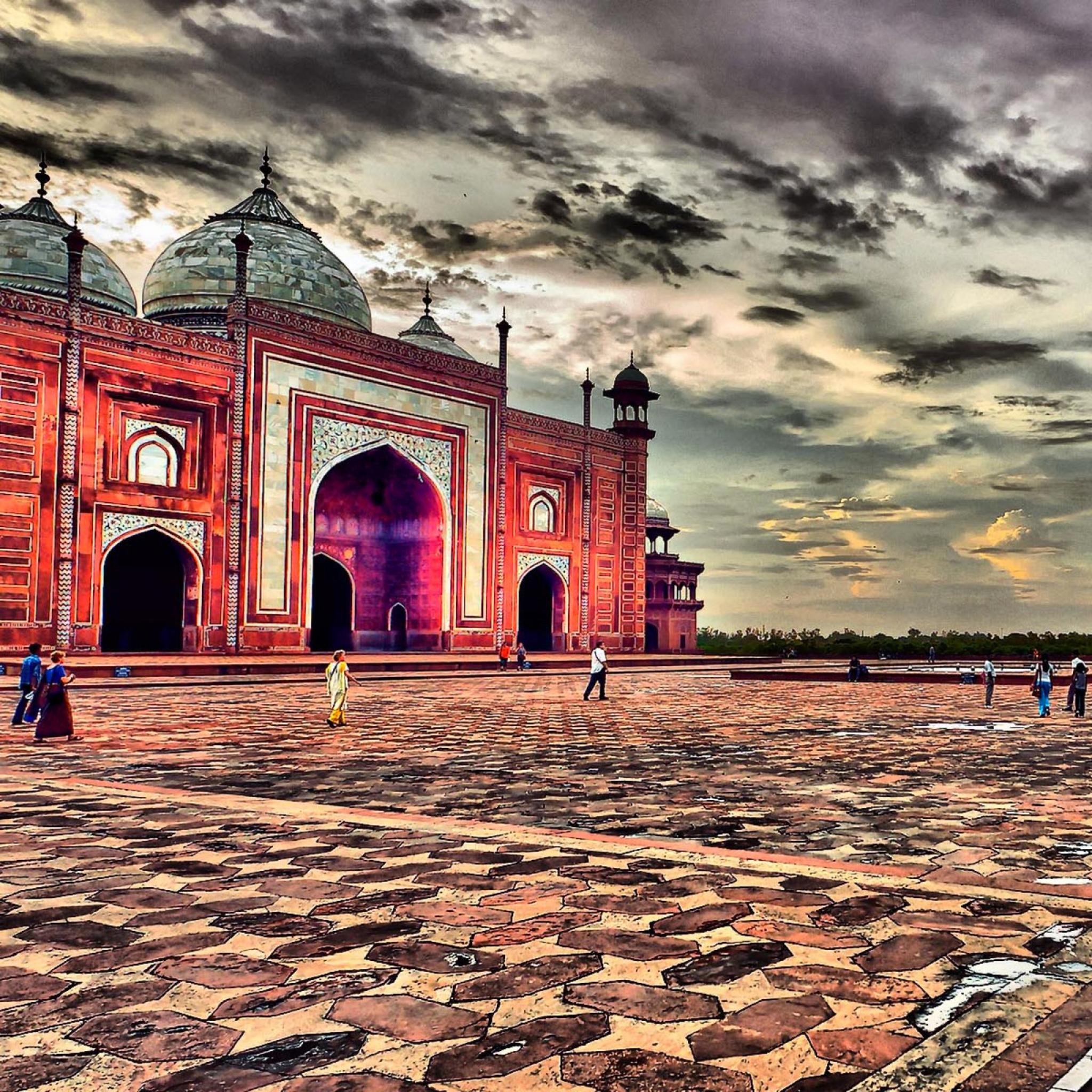 Taj Mahal Mosque Agra 3Wallpapers iPad Taj Mahal Mosque Agra   iPad