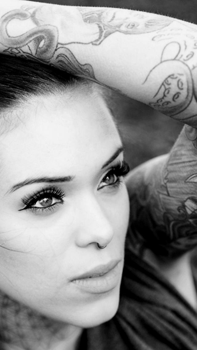 Girl tattoo 3Wallpapers iPhone Girl tattoo