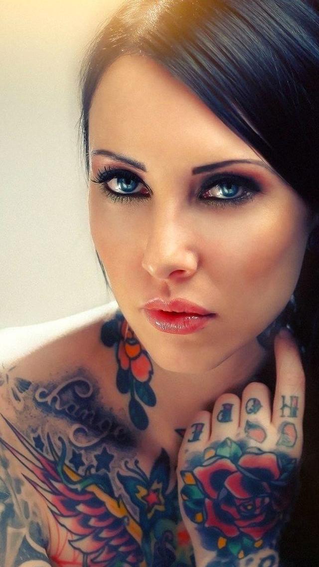 Tattoos Girl 3Wallpapers iPhone Tattoos Girl