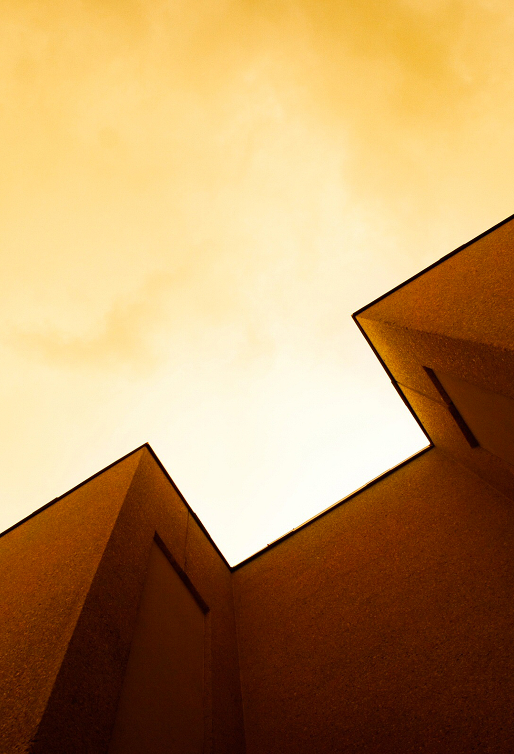 Orange Architecture 3Wallpapers iPhone Parallax Orange Architecture