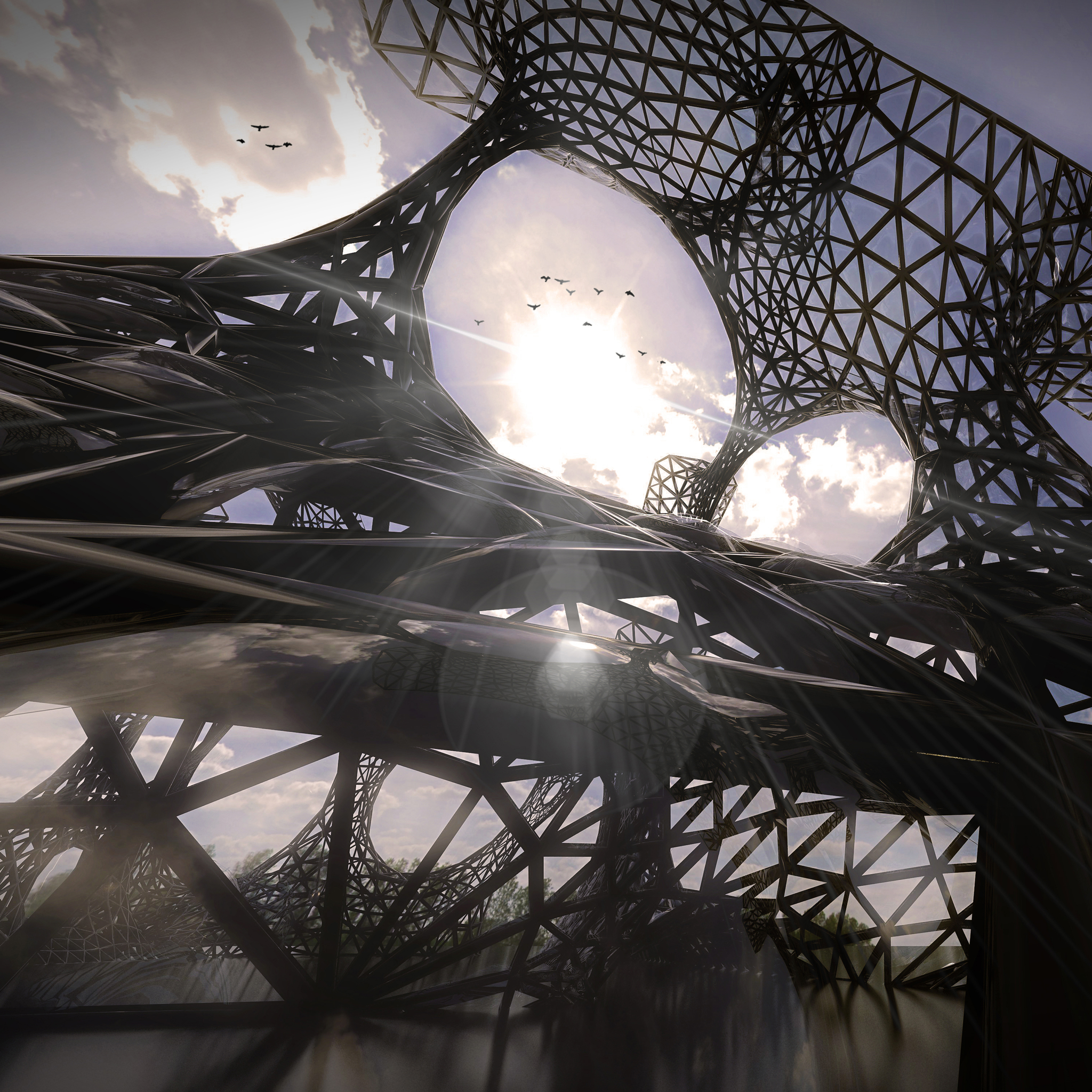 Parametric Architecture 3Wallpapers iPad Parametric Architecture   iPad