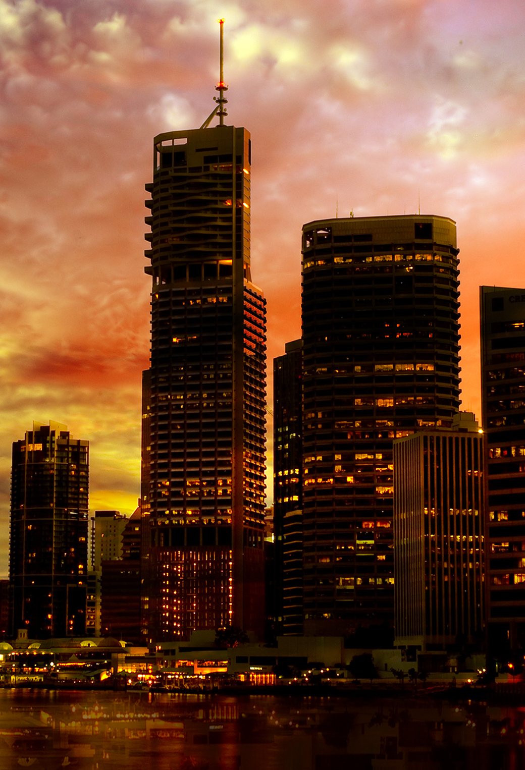 Sunset City 3Wallpapers iPhone Parallax Sunset City