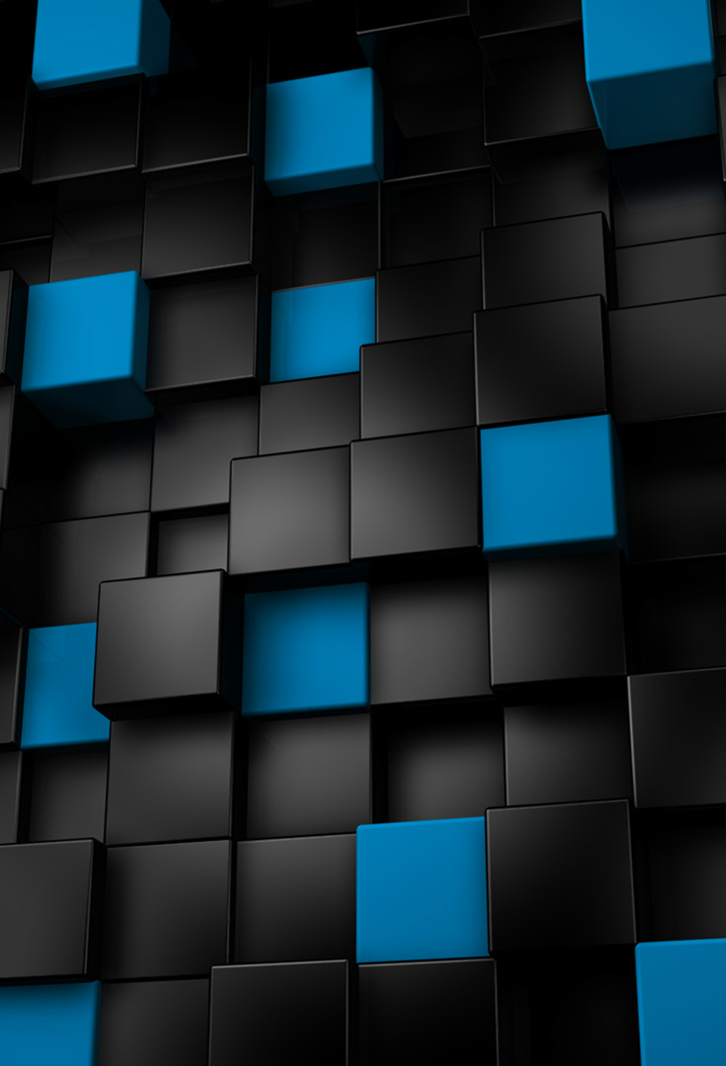 Abstract Blue And Black Cubes 3Wallpapers IPhone Parallax