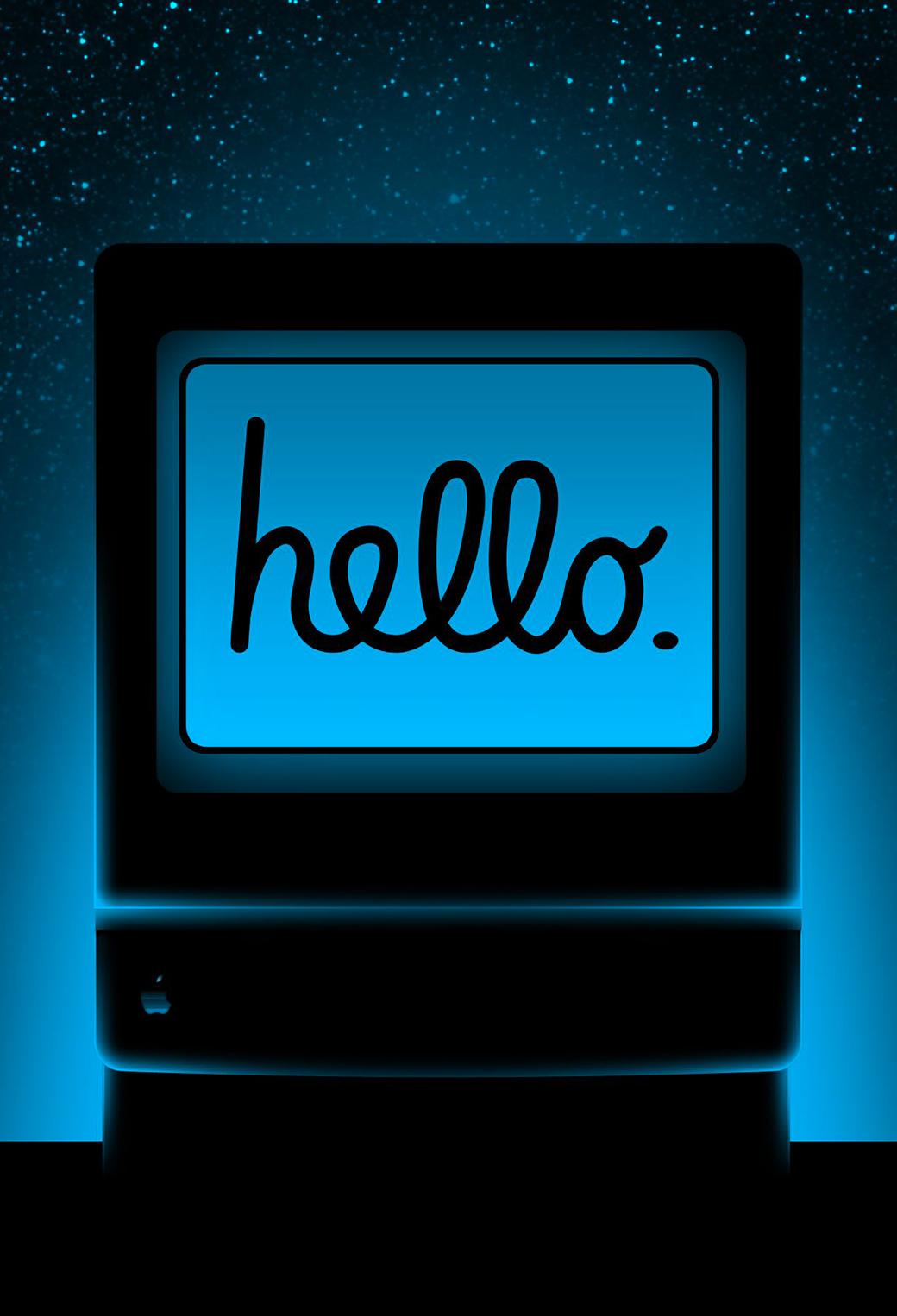 Hello Mac 3Wallpapers iPhone Parallax Hello Mac