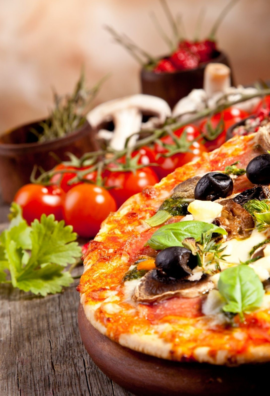 Veggie Pizza 3Wallpapers iPhone Parallax Veggie Pizza
