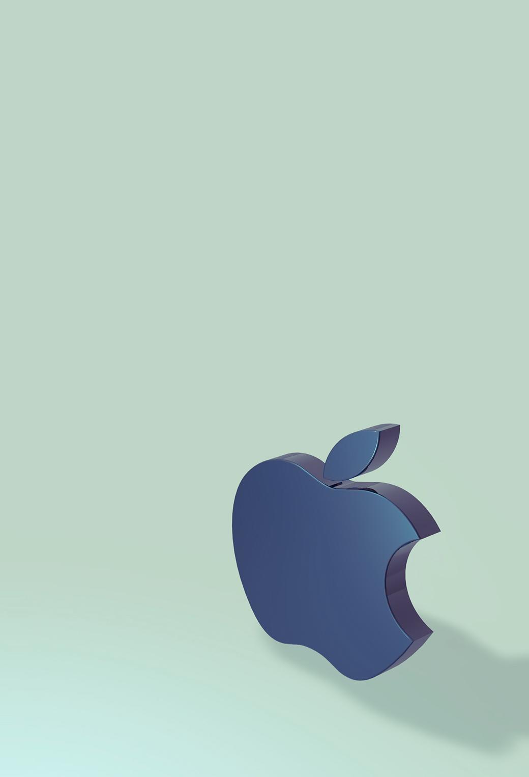 Apple Logo 3D 3Wallpapers iPhone Parallax Apple Logo 3D