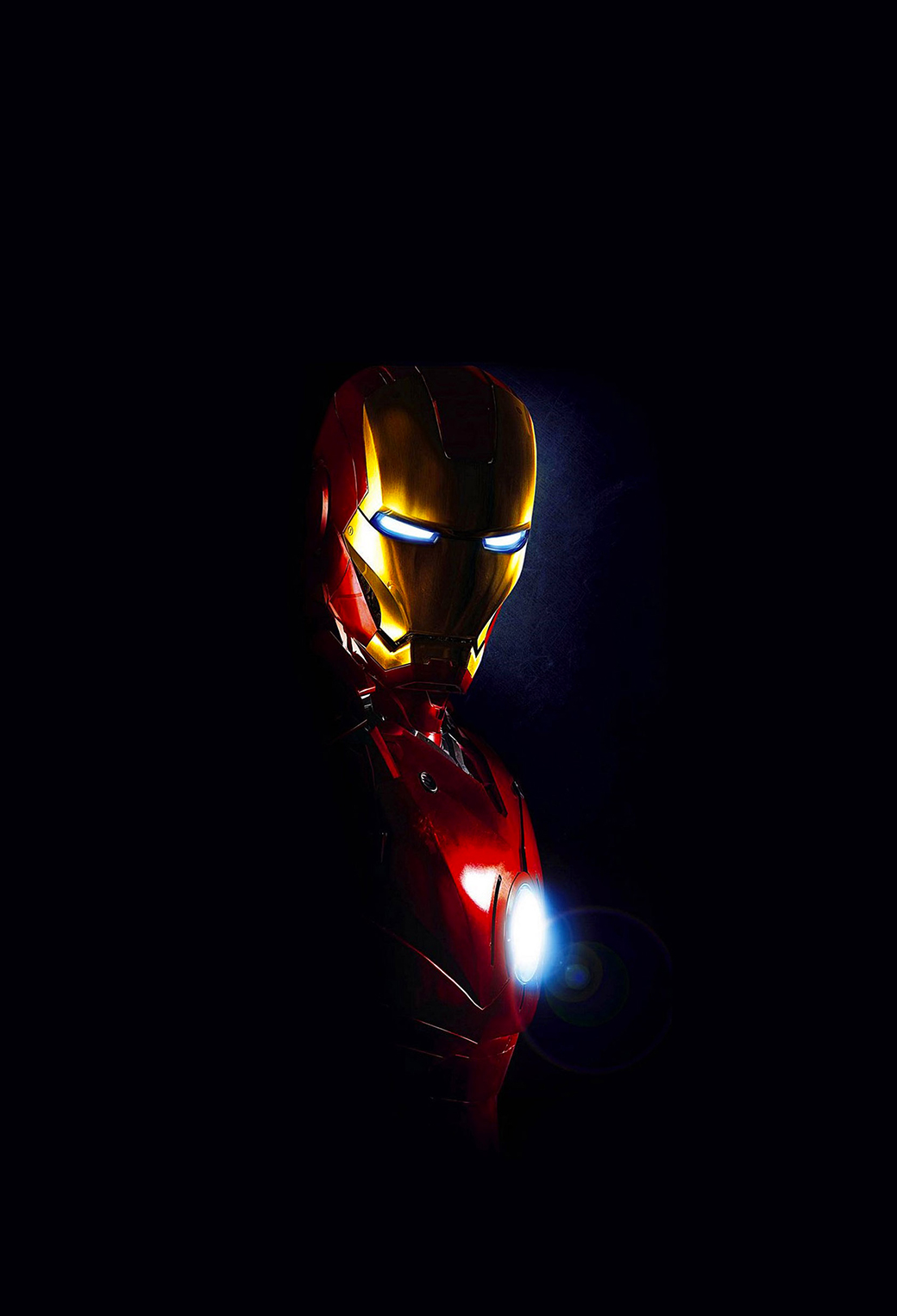 Iron man in dark wallpaper for iphone x 8 7 6 free for Fond ecran sombre