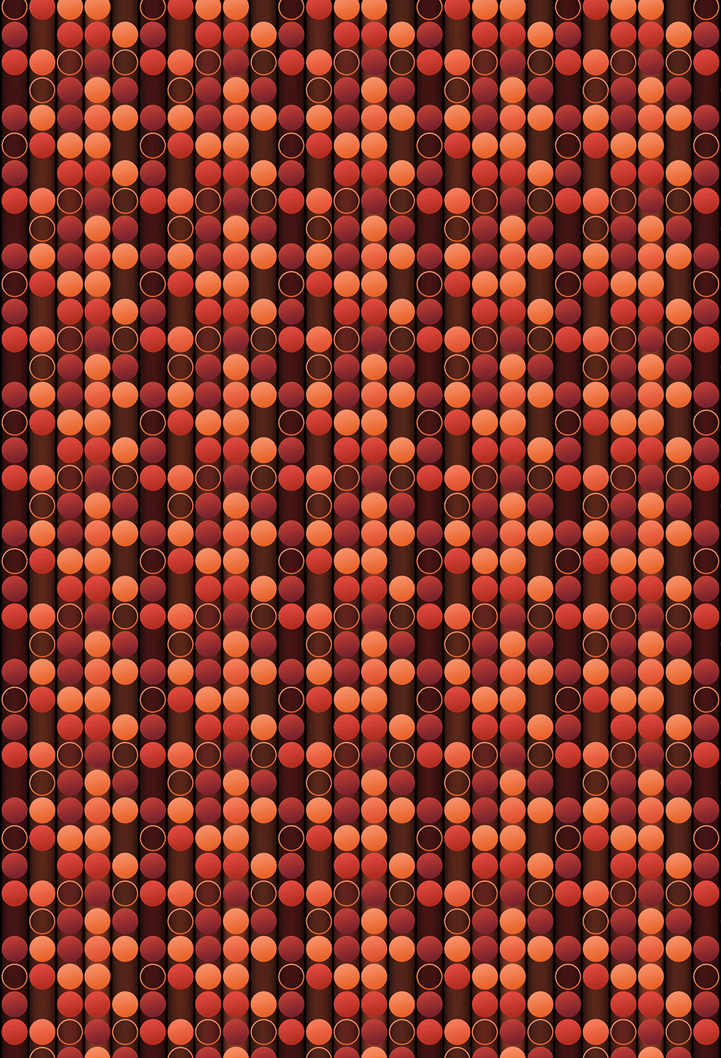 Orange Ellipse 3Wallpapers Iphone Parallax Orange Ellipse
