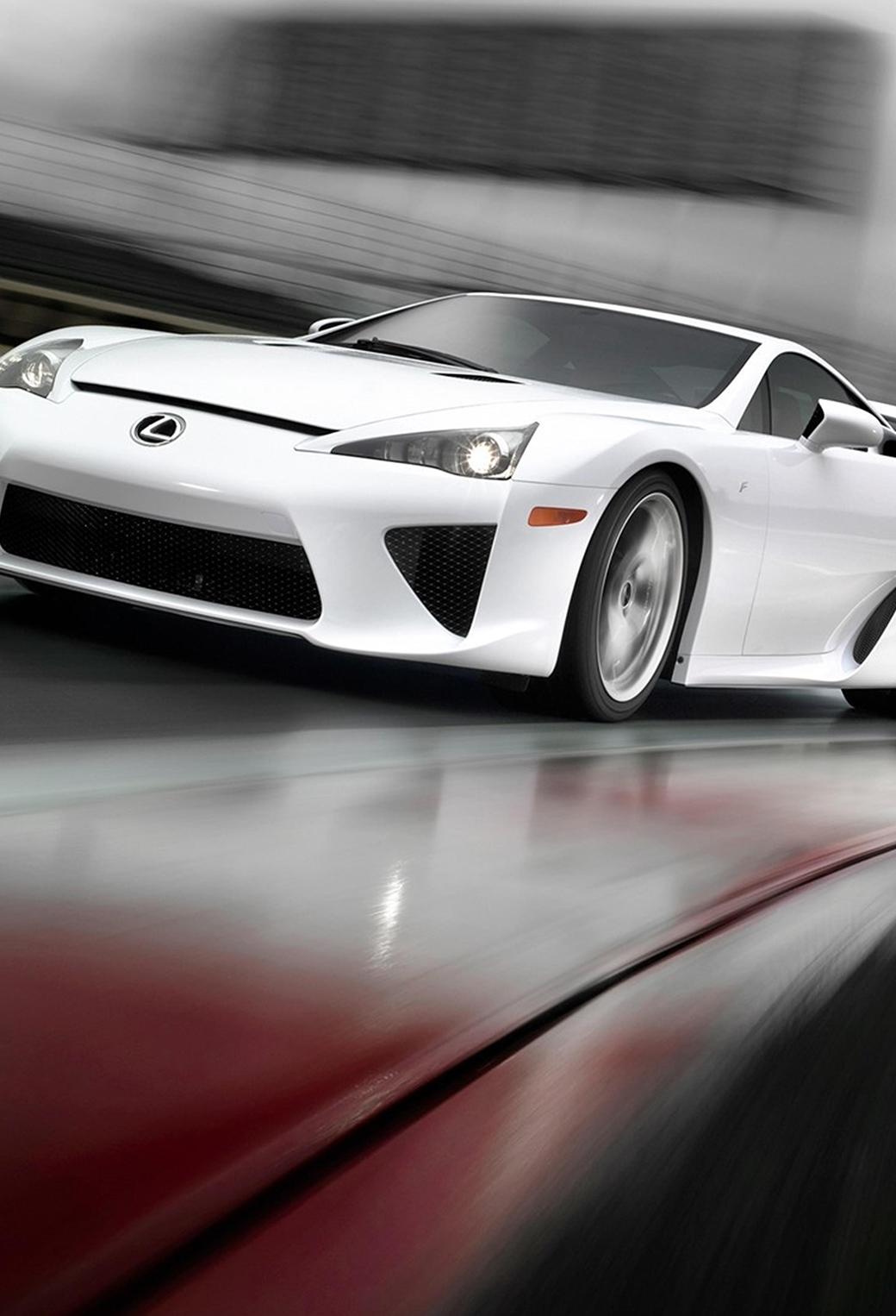 White Lexus LFA 3Wallpapers iphone parallax White Lexus LFA