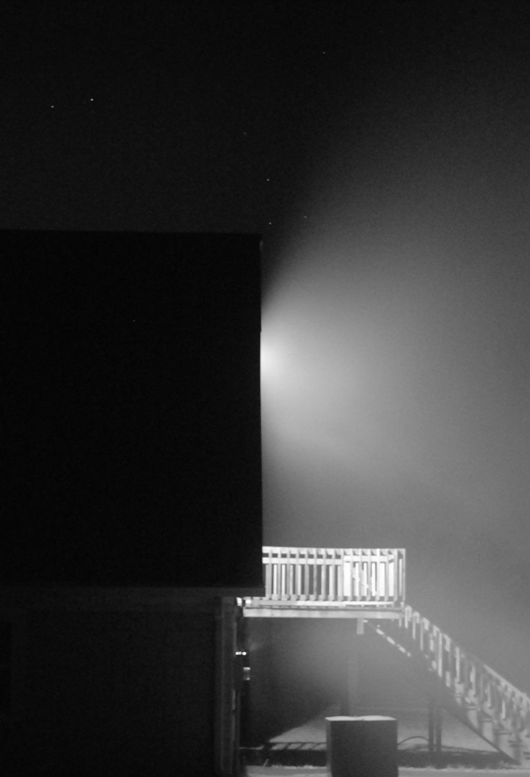 Black White Foggy Night 3Wallpapers iPhone Parallax Black & White Foggy Night