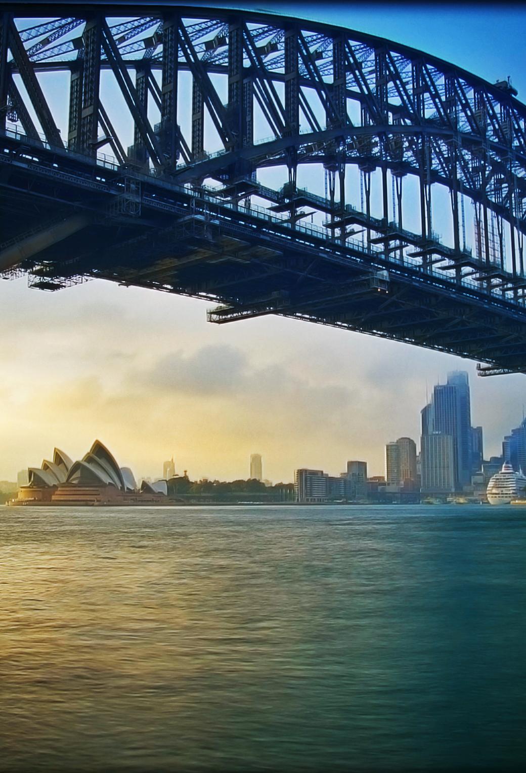 Harbour City Sydney Australia 3Wallpapers iPhone parallax Harbour City Sydney Australia