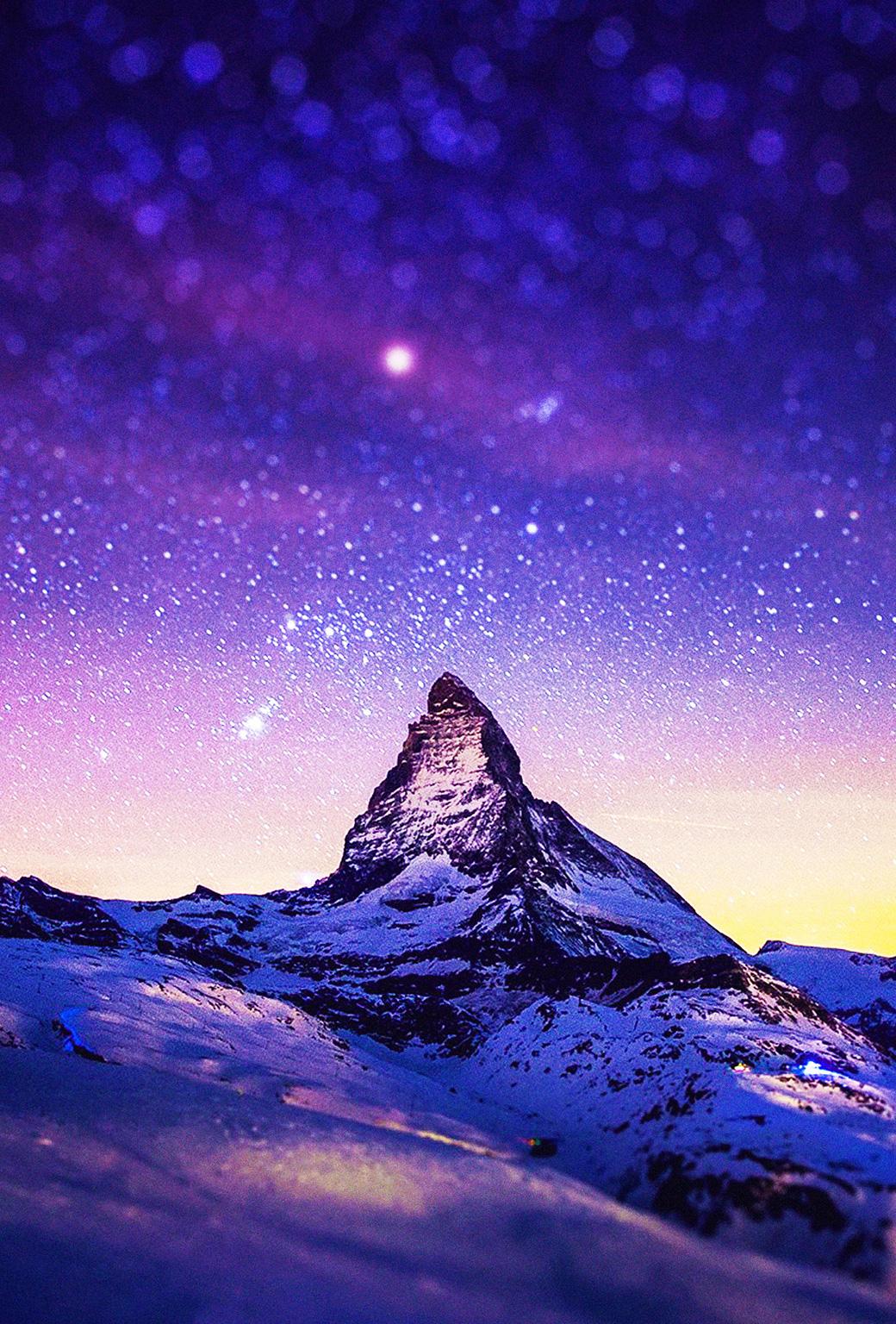Snow Mountain 3Wallpapers iphone Parallax Snow Mountain