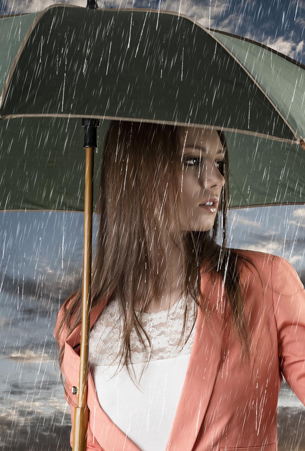 Girl in the Rain 3Wallpapers iPhone Parallax Girl in the Rain