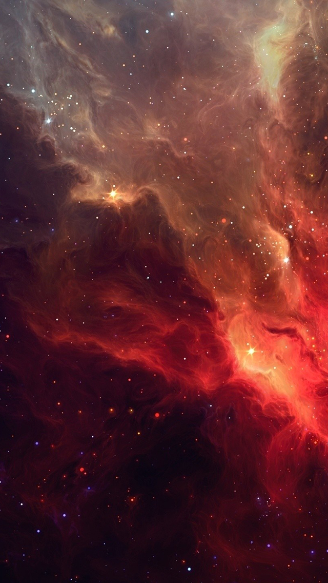 Red Space 3Wallpapers iphone Parallax Red Space