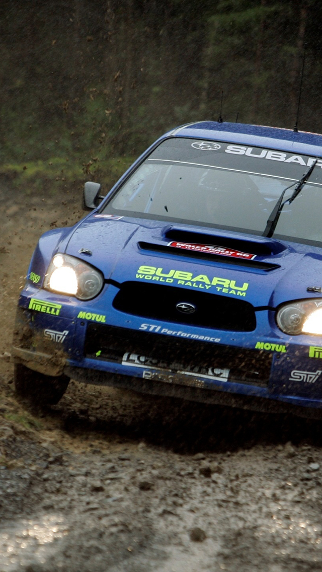 Subaru Impreza Rally 3Wallpapers iphone parallax Subaru Impreza Rally