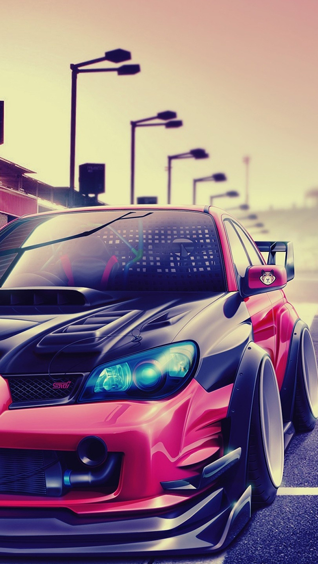 Subaru Impreza Tuning Wallpaper For Iphone X 8 7 6 Free