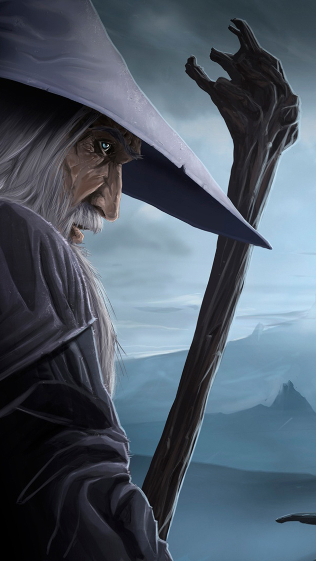 Gandalf And The Lonely Mountain Wallpaper For Iphone X 8 7 6