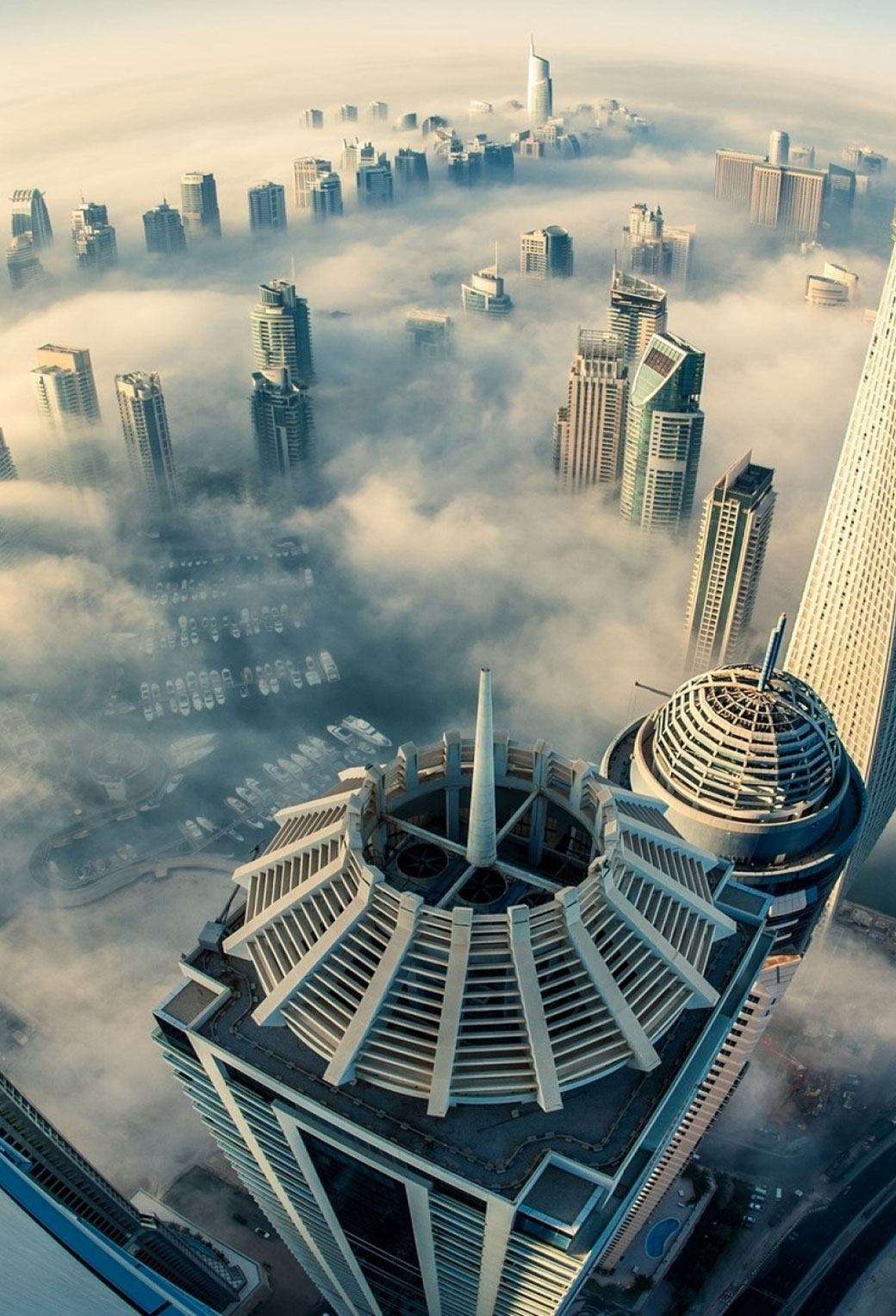 Dubai in the Coud 3Walpaper siPhone Parallax Dubai in the Cloud