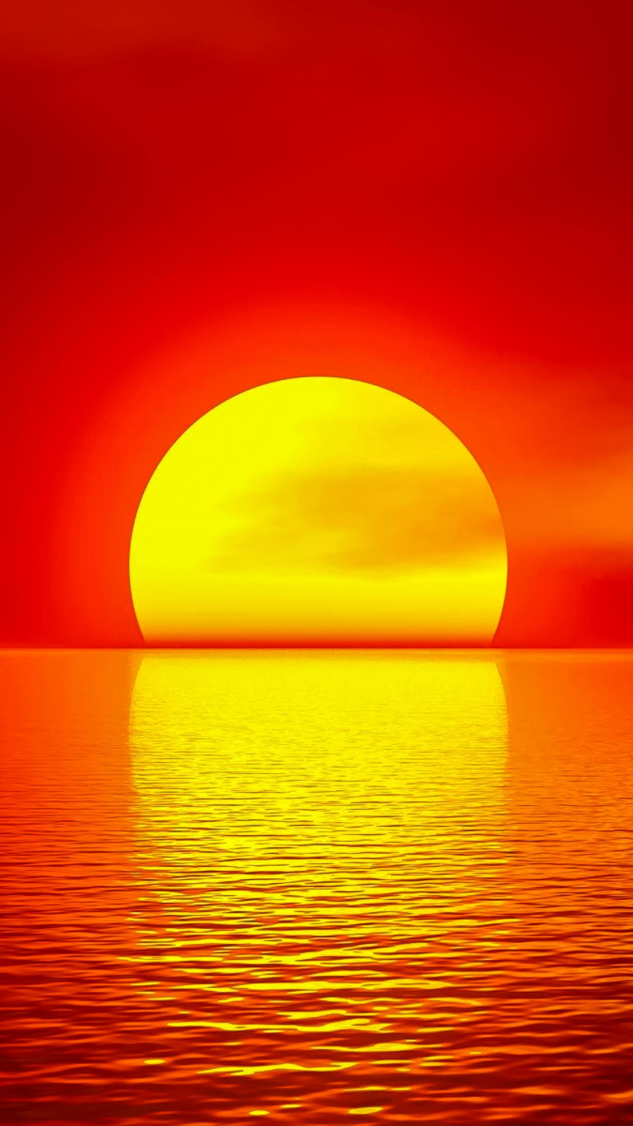 Fiery Sunset 3Wallpapers iphone Parallax Fiery Sunset