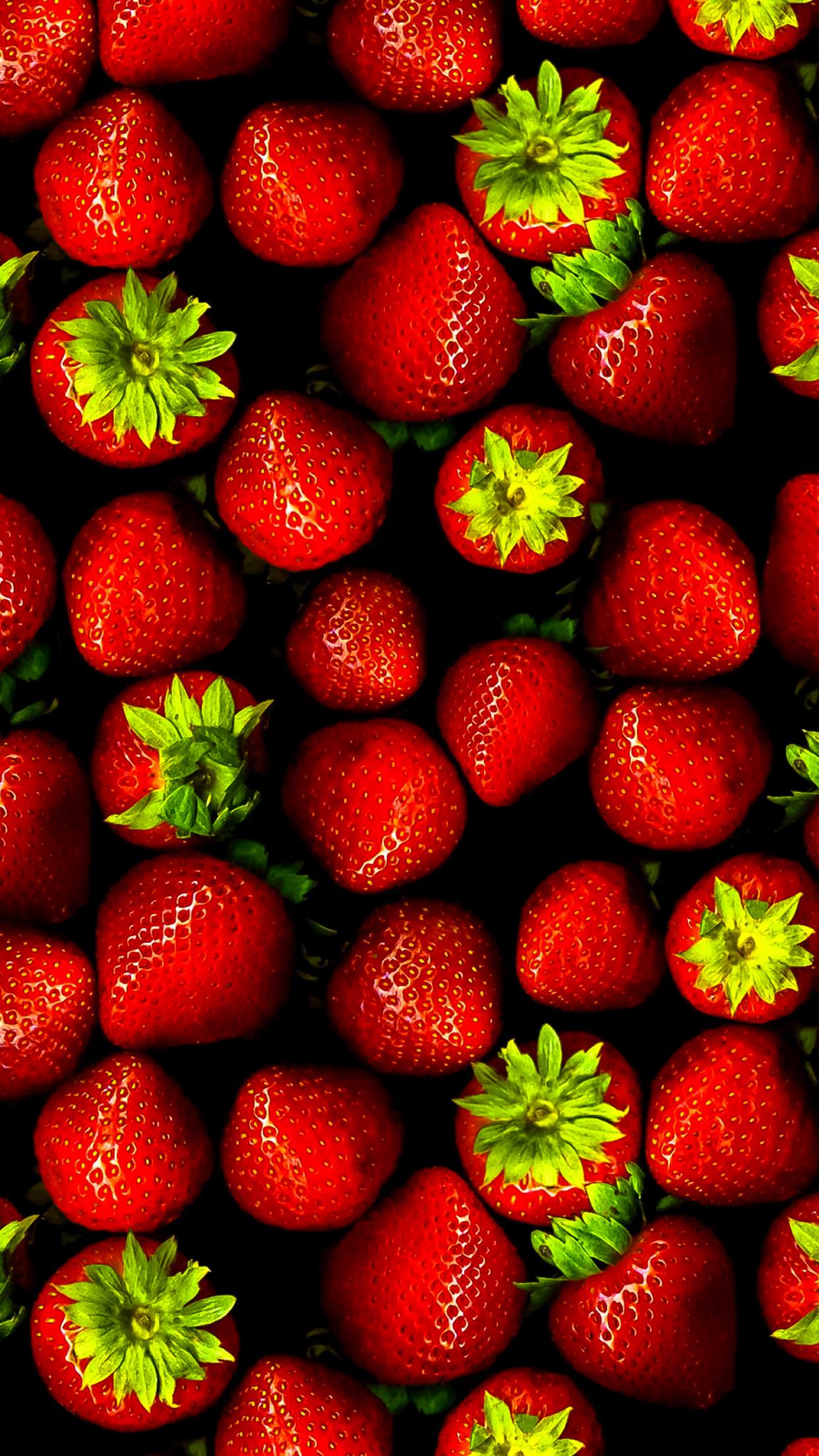 Fresh Strawberries 3Wallpapers iphone Parallax Fresh Strawberries