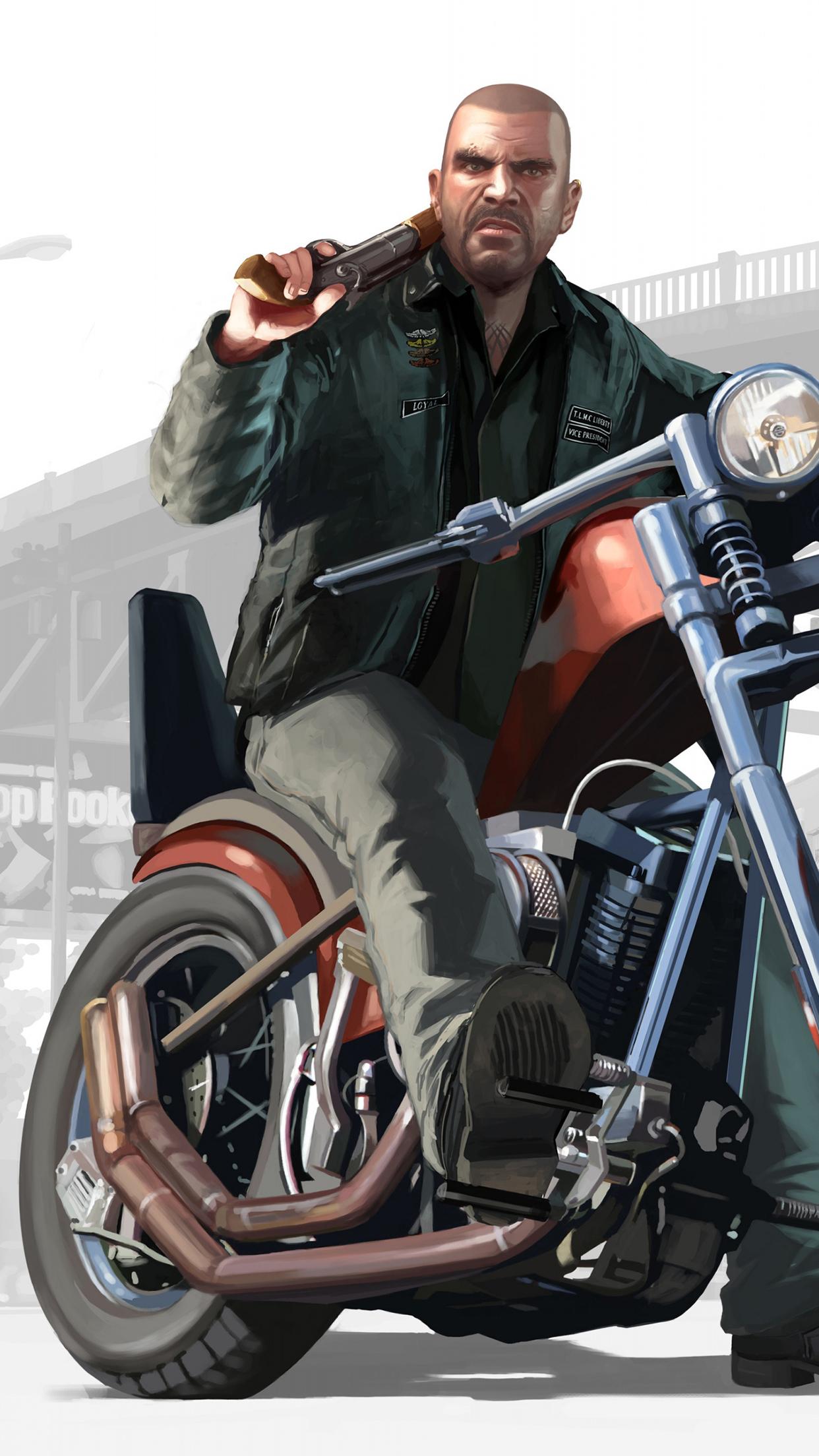 GTA Motorcycle 3Wallpapers iPhone Parallax GTA Motorcycle