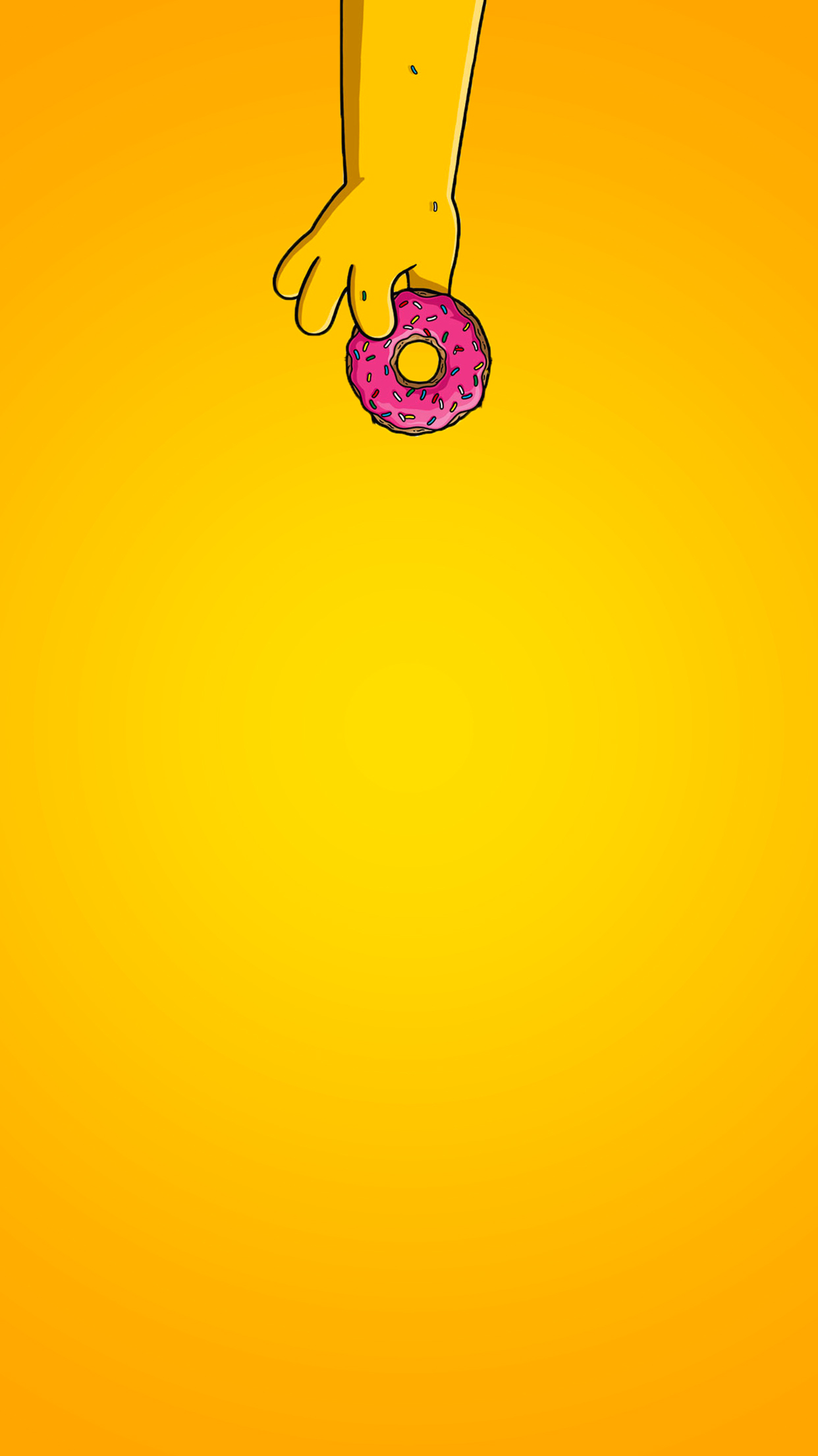 Wallpaper iphone simpsons - Simpsons Yellow Woohoo Donut 3wallpapers Iphone Parallax