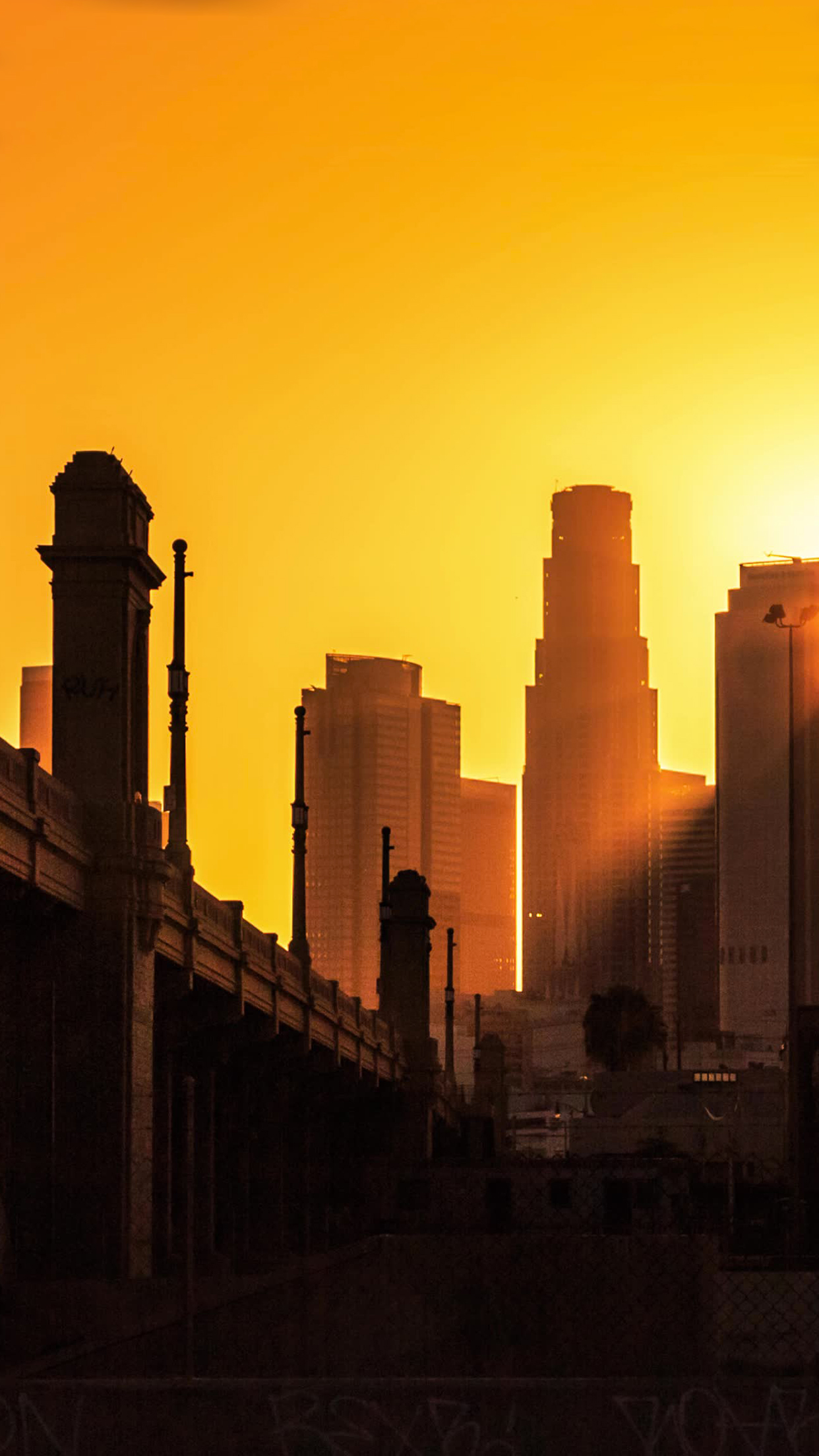 wallpaper hd iphone los angeles city sunset free download