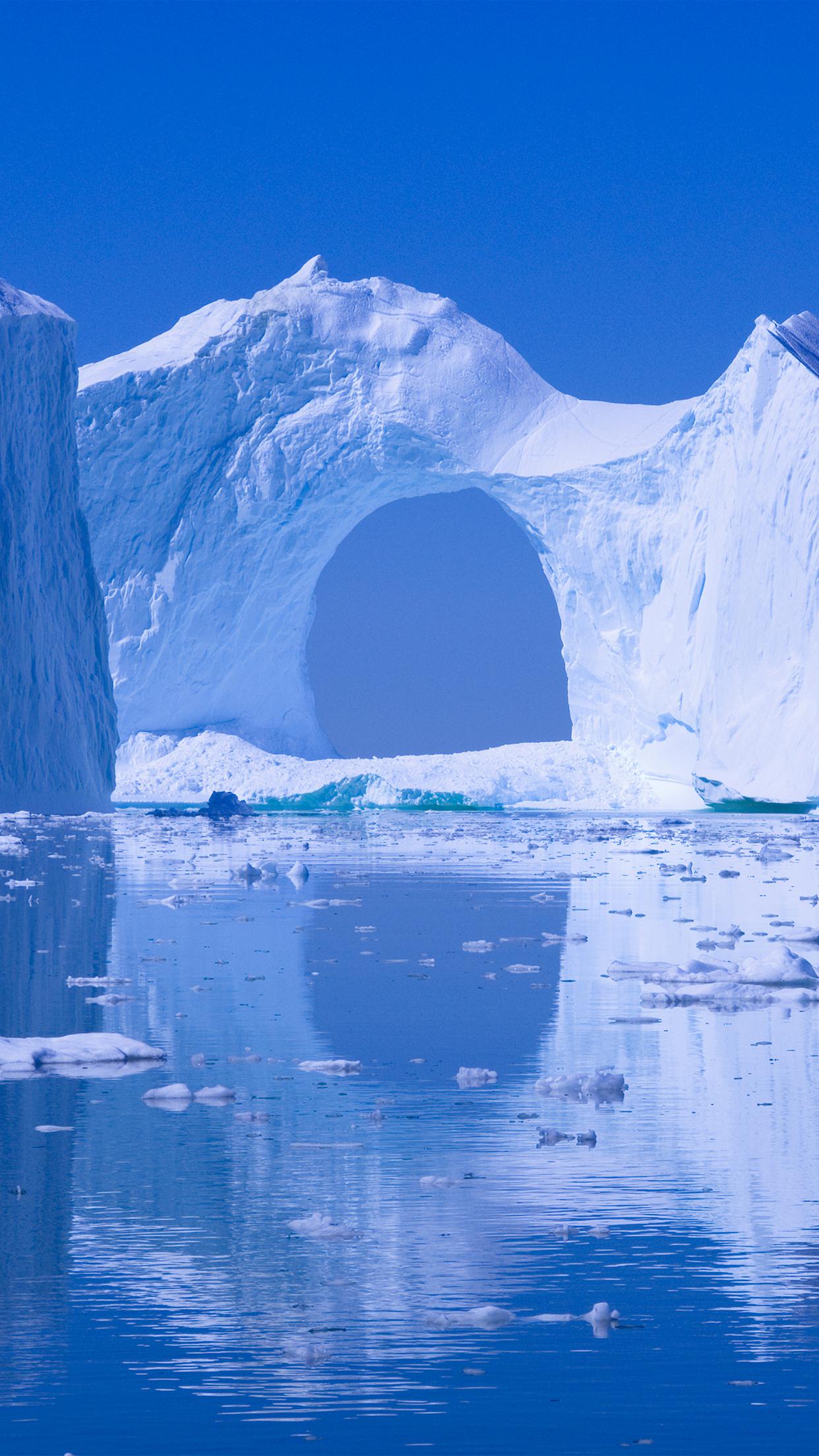 Iceberg door iPhone Parallax 3Wallpapers Iceberg door