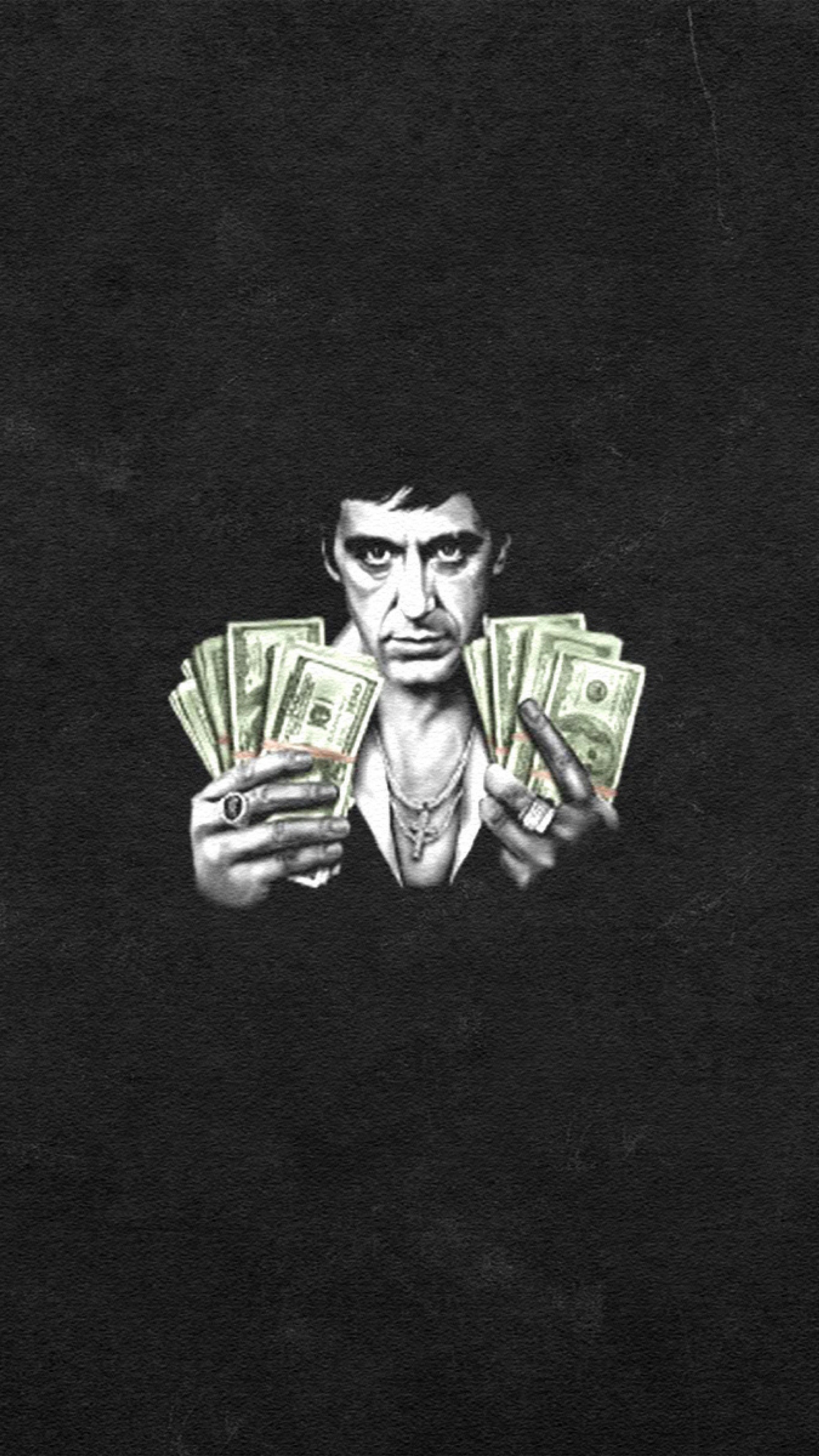 Scarface Money iPhone 3Wallpapers Parallax Scarface Money