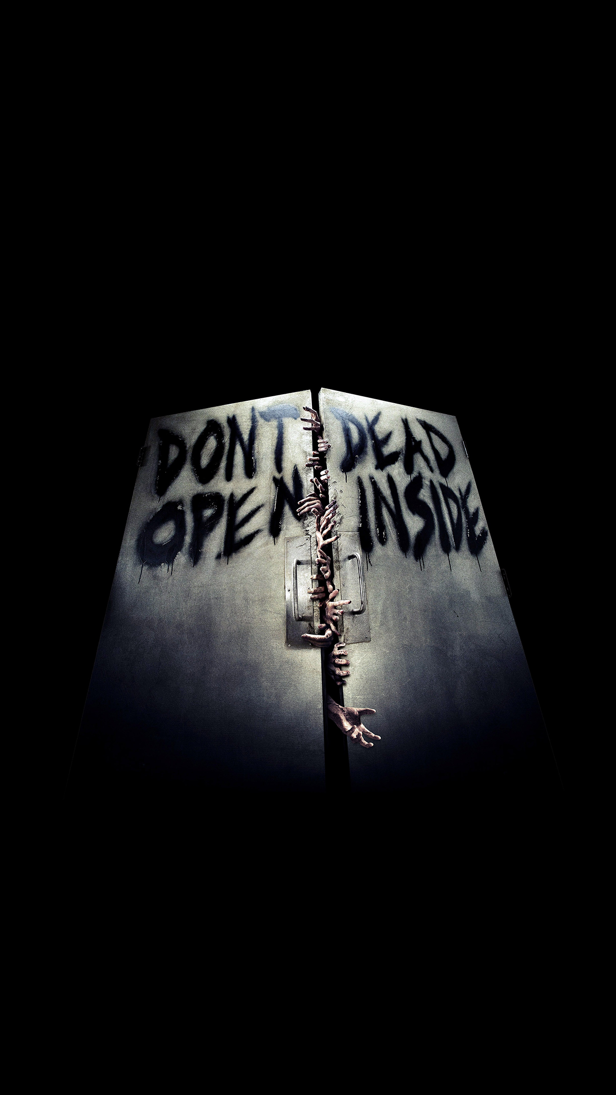 The walking dead door iPhone 3Wallpapers Parallax The Walking Dead door