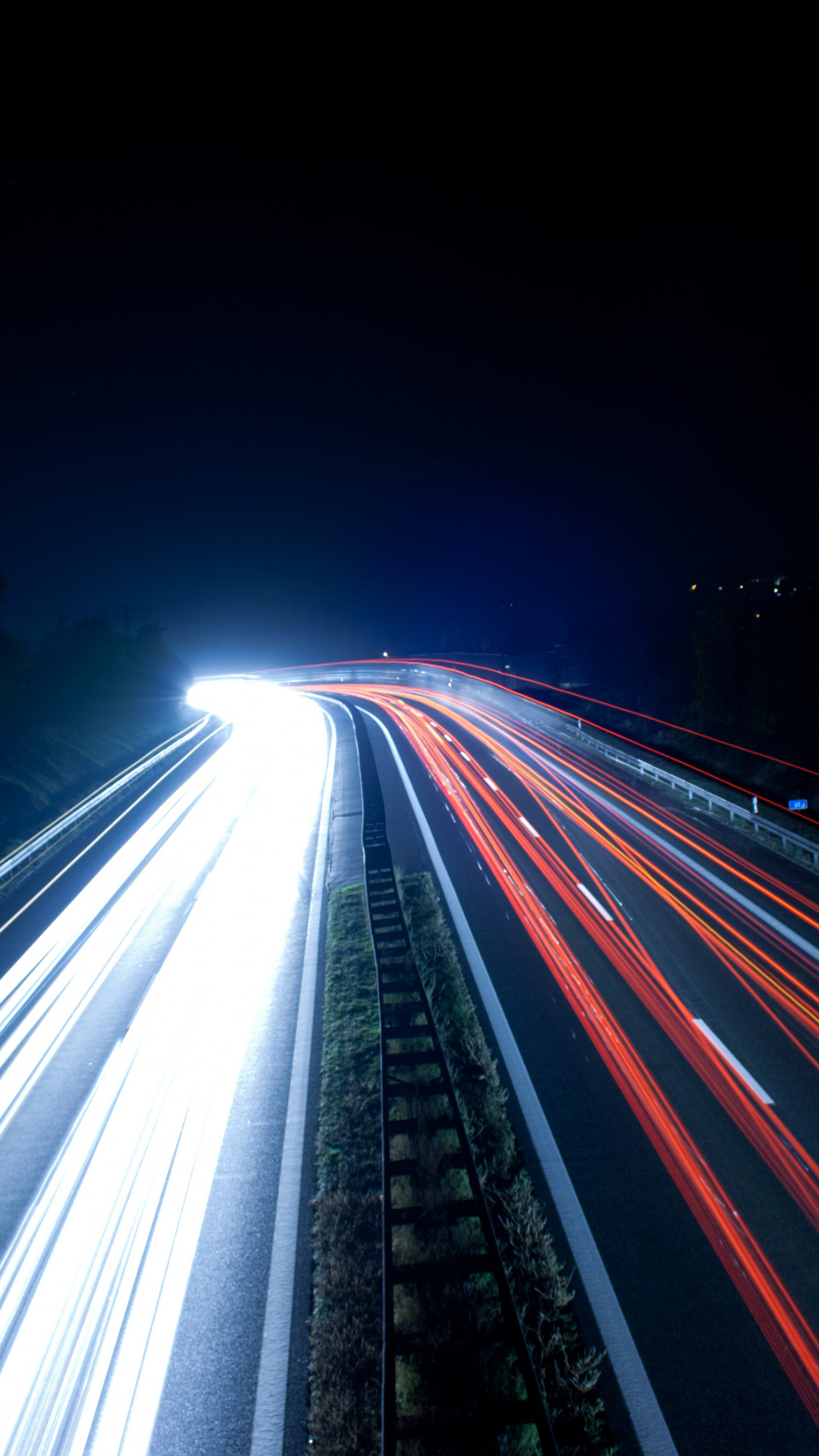 Timelapse highway iPhone Parallax 3Wallpapers Time lapse Highway