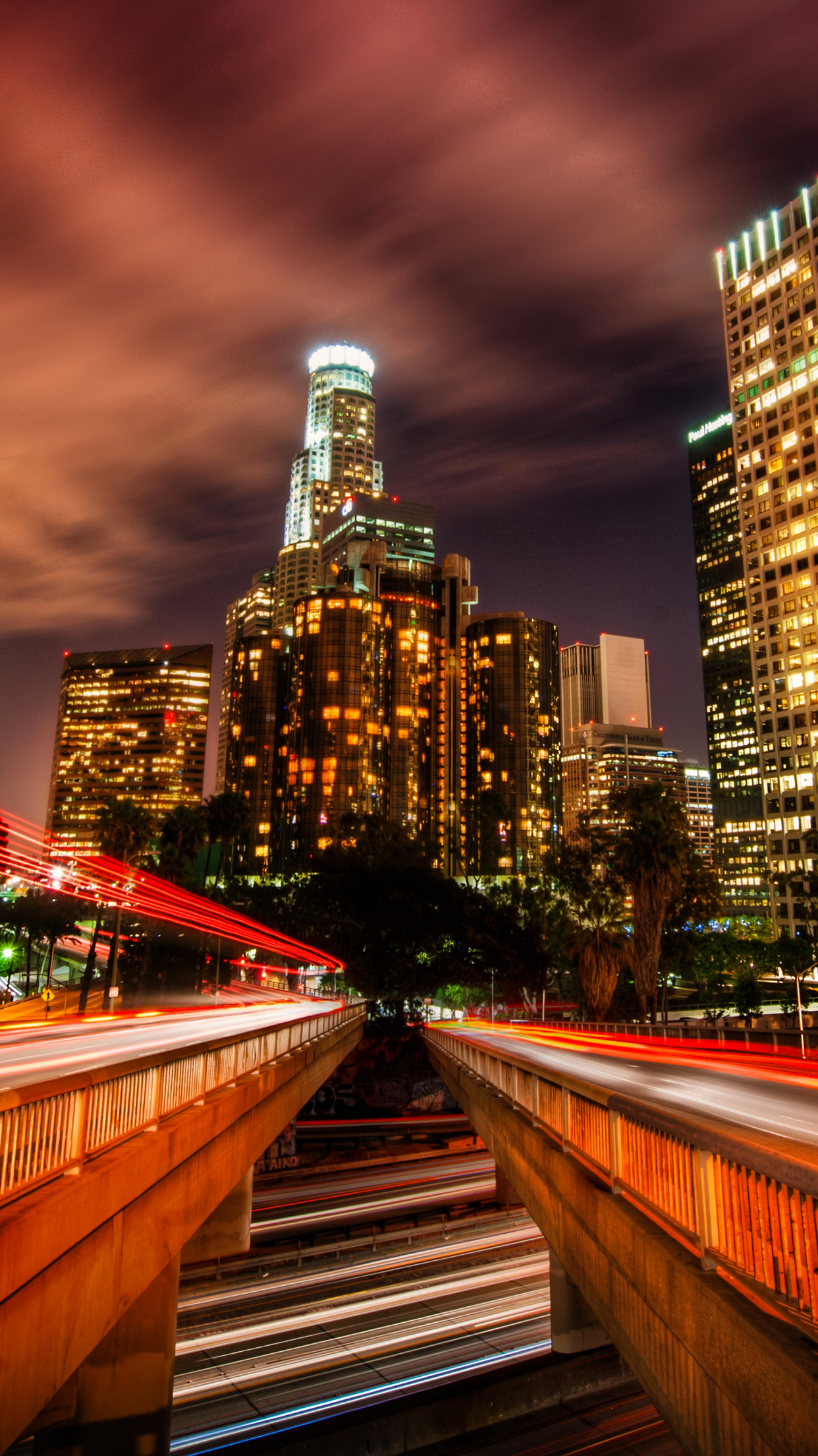 Time-lapse Los Angeles Wallpaper for iPhone 11, Pro Max, X ...