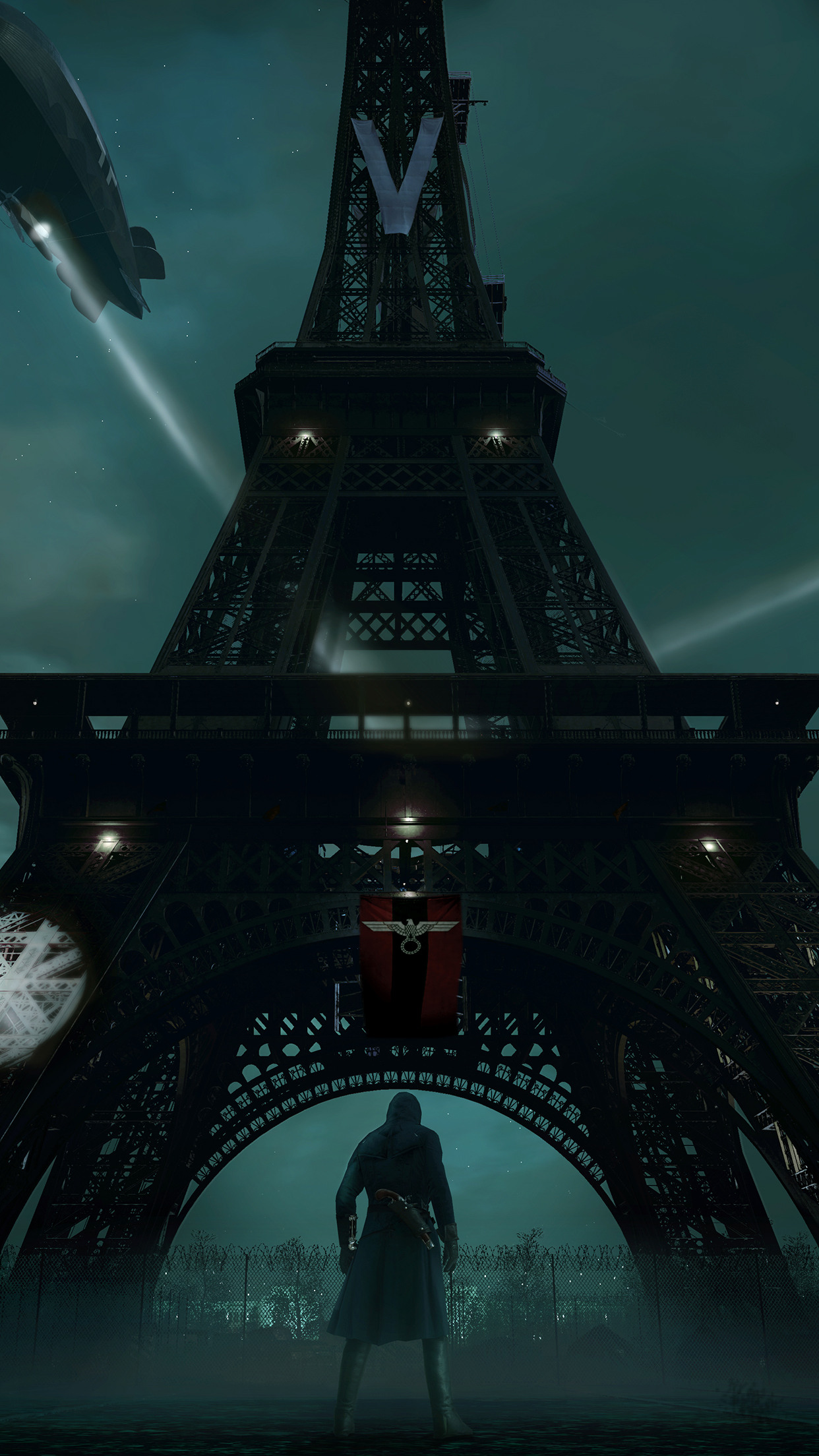 Assassins Creed Unity Eiffel Tower IPhone 3Wallpapers Parallax