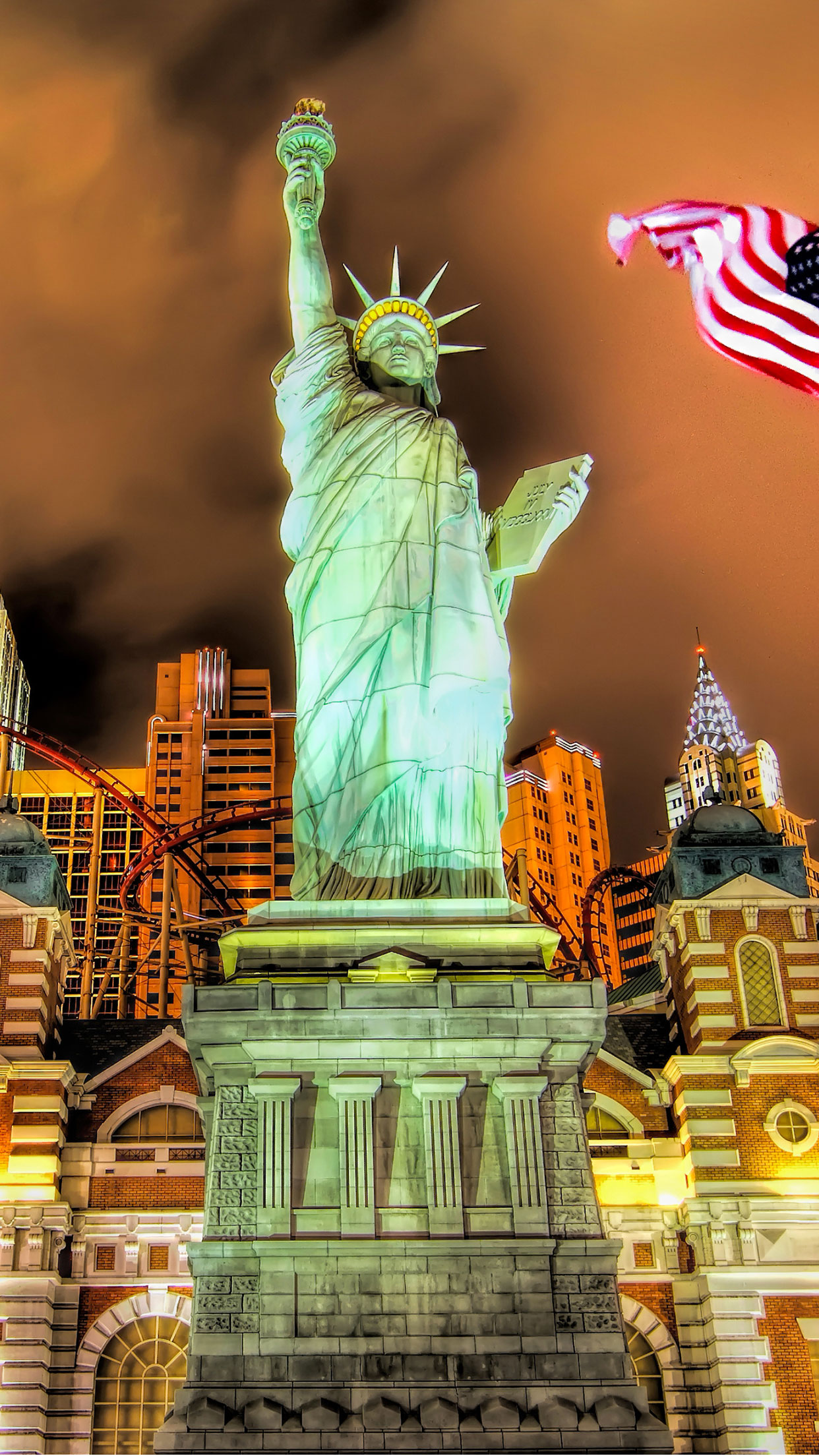 Las Vegas Liberty Wallpaper For Iphone 11 Pro Max X 8 7 6 Free Download On 3wallpapers