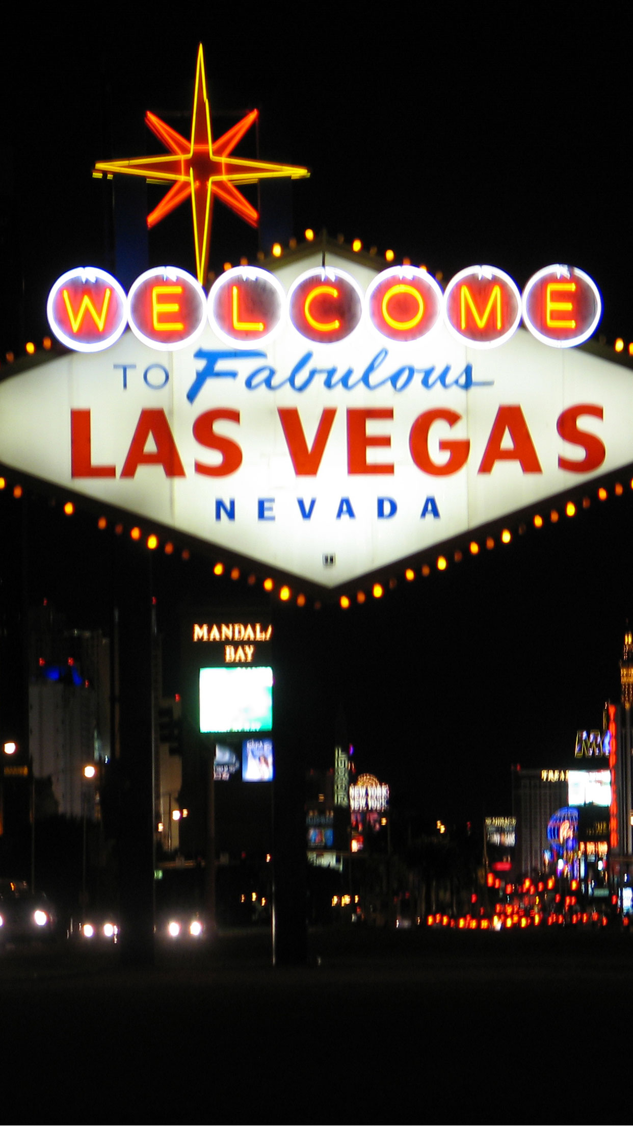 Las Vegas Welcome iPhone 3Wallpapers Parallax Las Vegas Welcome