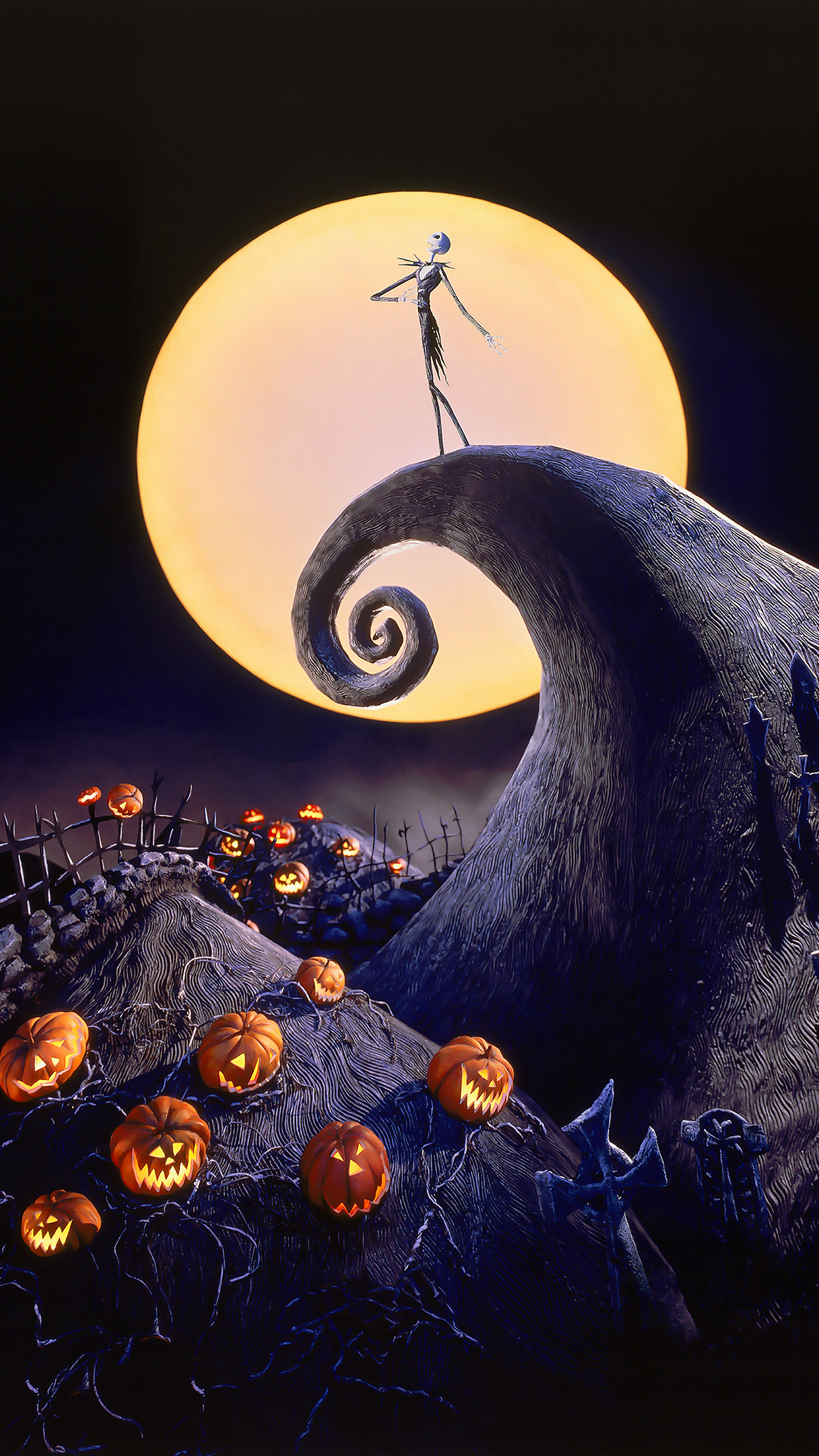 The Nightmare Before Christmas Cover iPhone 3Wallpapers Parallax The Nightmare Before Christmas Cover