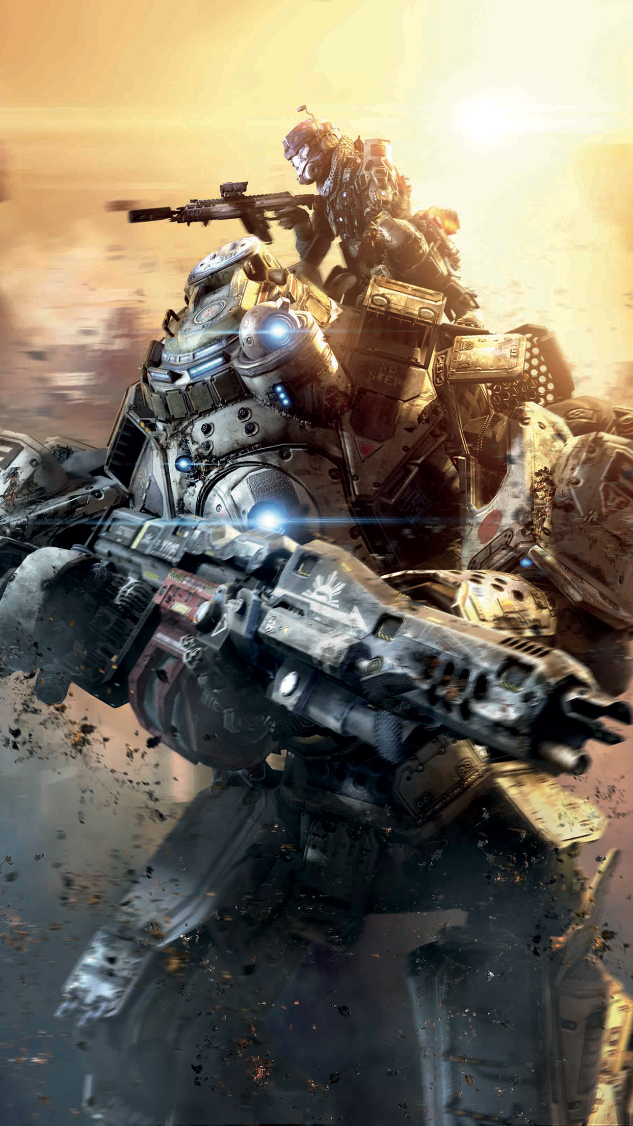 Titanfall action iPhone 3Wallpapers Parallax Titanfall action
