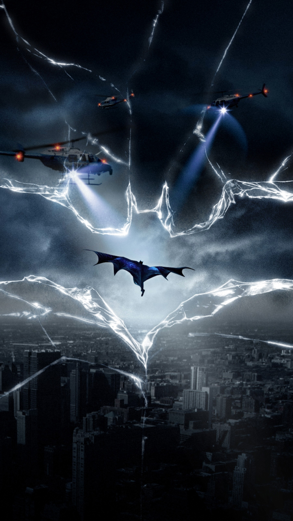 Batman Helicopters Wallpaper For Iphone X 8 7 6 Free