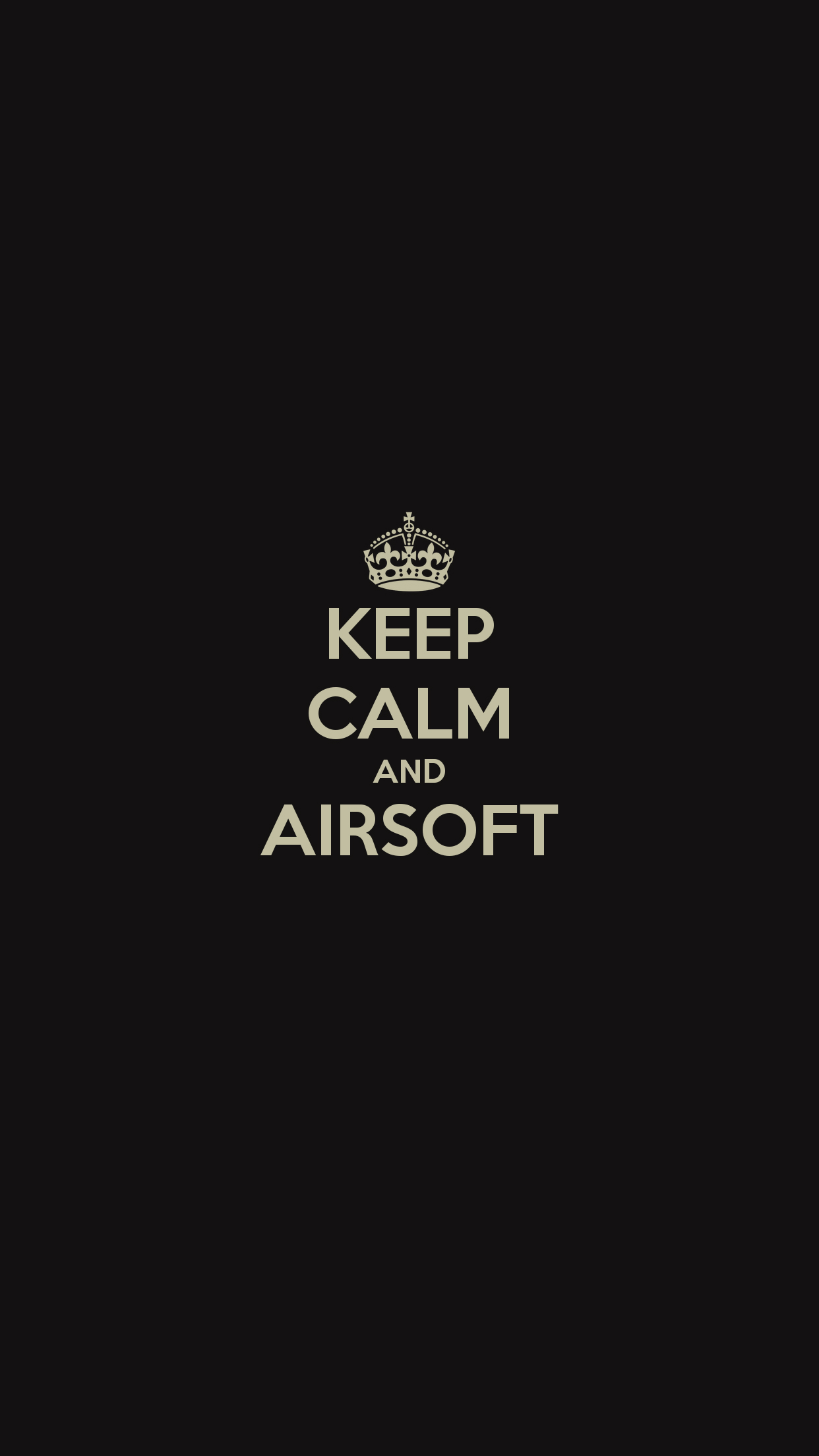 Keep Calm And Airsoft Wallpaper For Iphone X 8 7 6