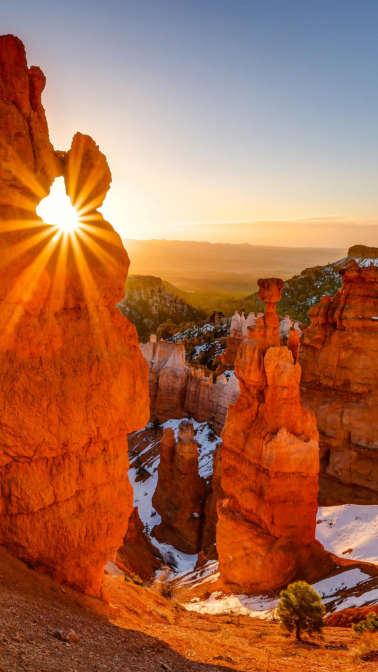 Canyon Sunrise iPhone 3Wallpapers Parallax Canyon Sunrise