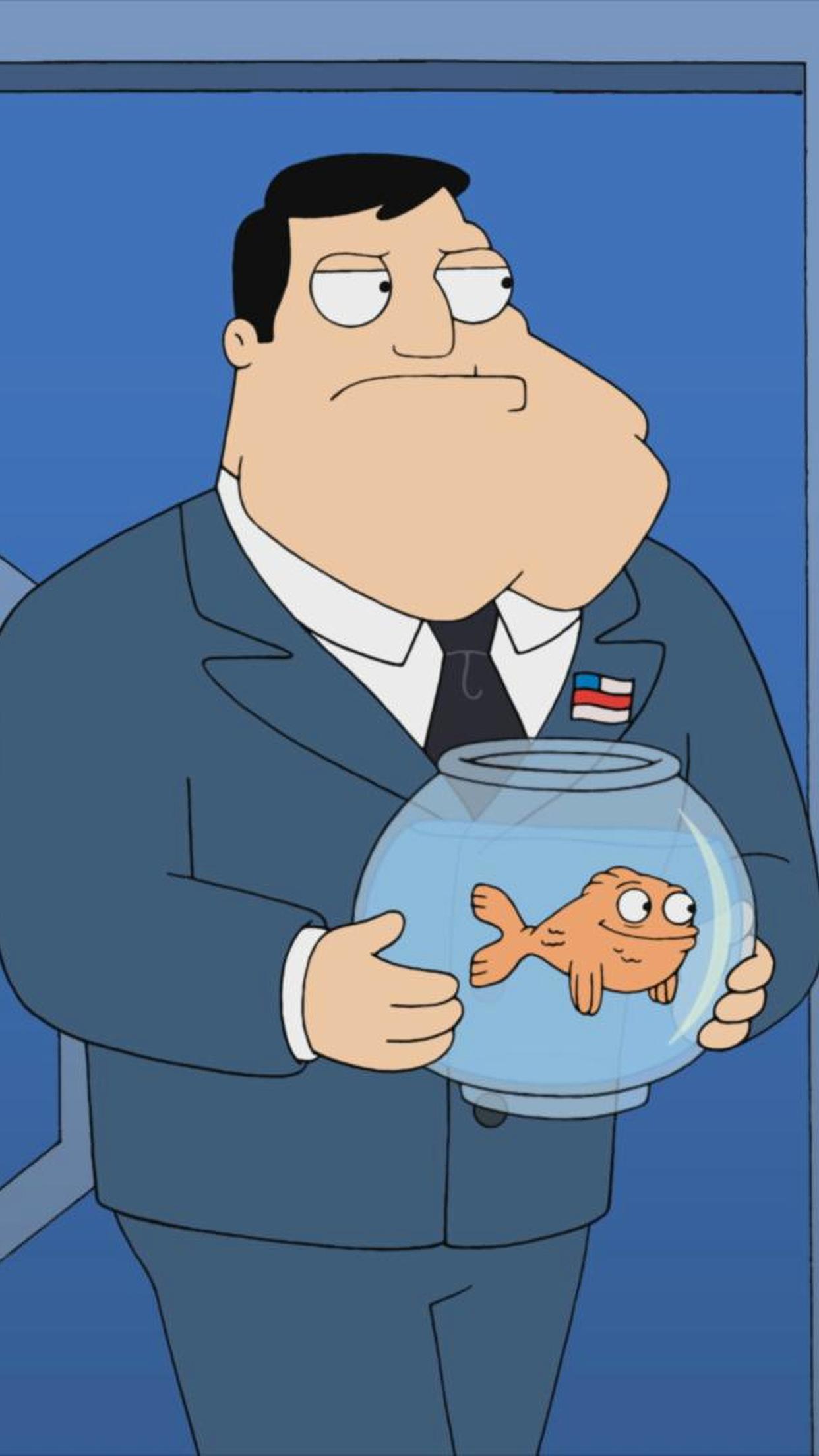 American Dad Fish iPhone 3Wallpapers Parallax American Dad Fish