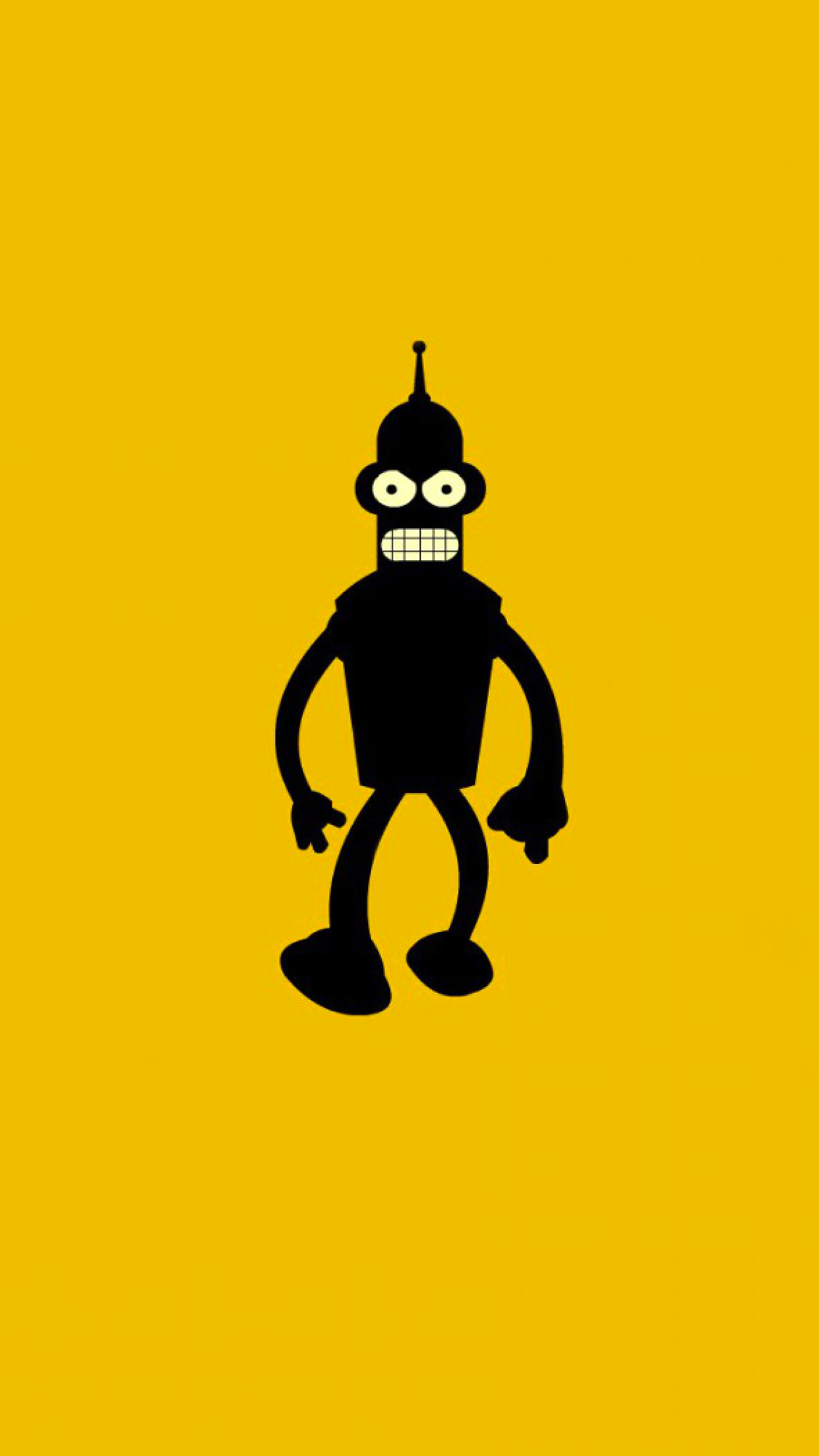 Bender Yellow Wallpaper For Iphone X 8 7 6 Free Download On