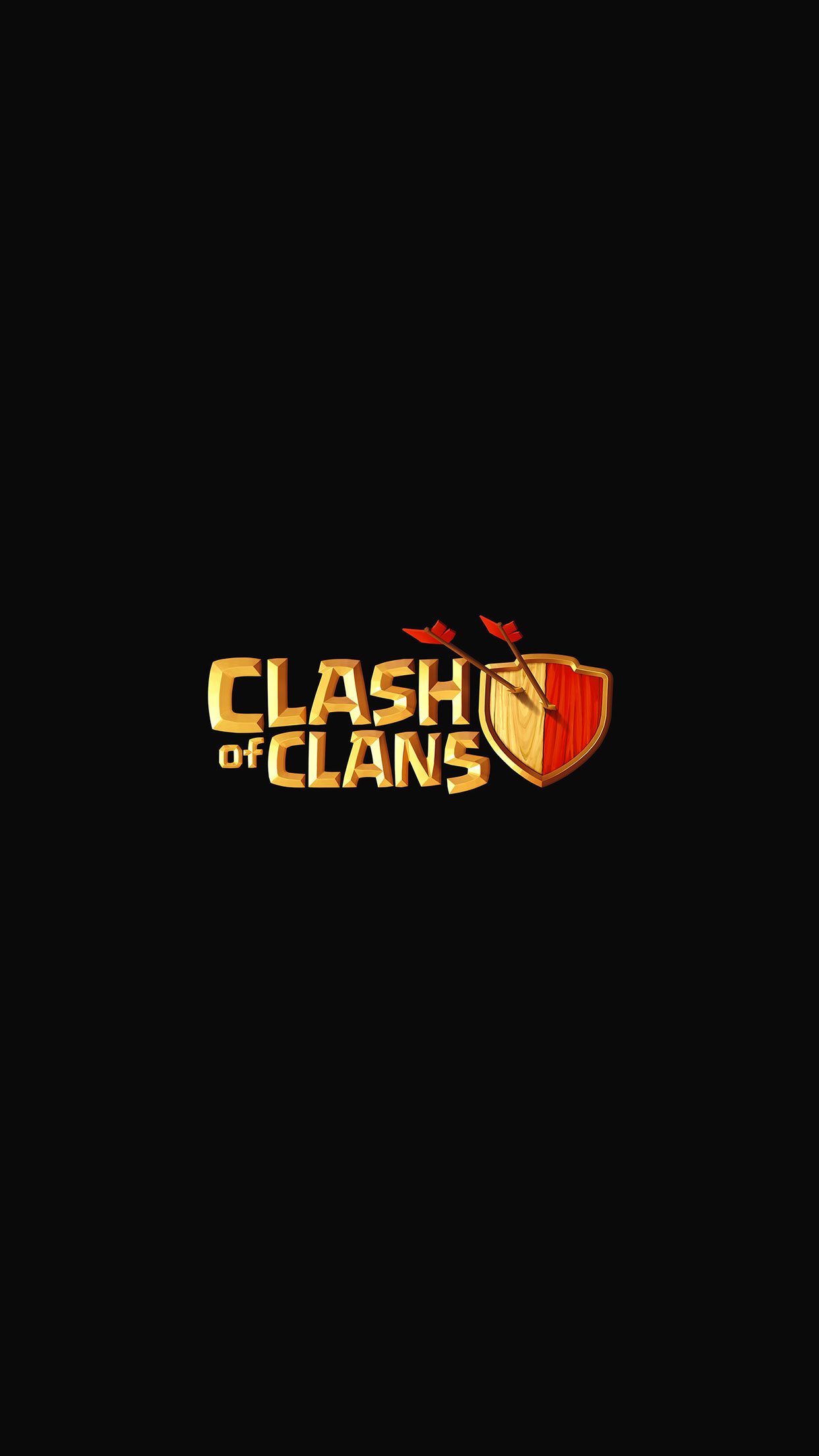Clash Of Clans Logo Wallpaper for iPhone 11, Pro Max, X, 8 ...