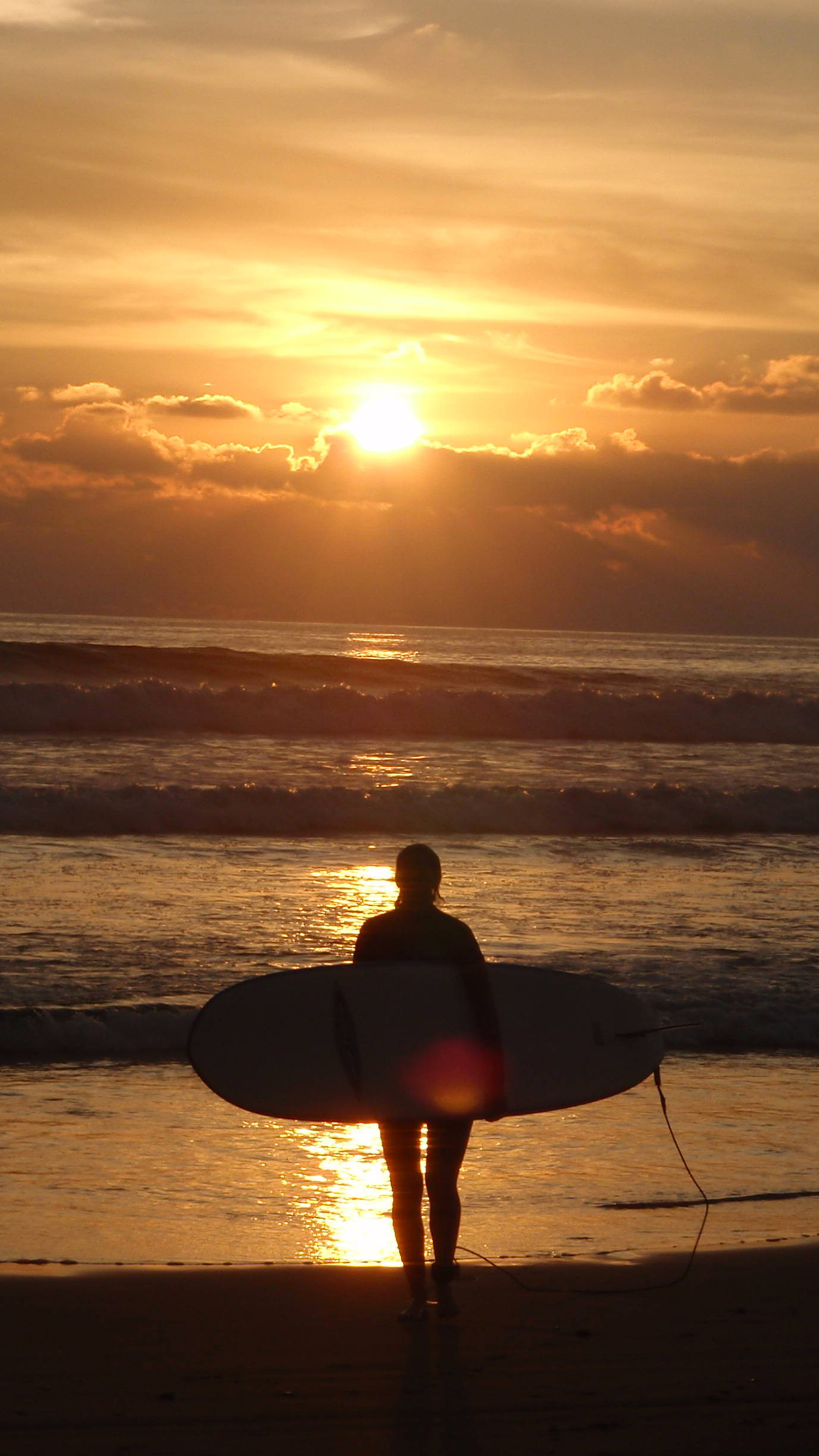 Surfing Sunset Wallpaper For Iphone X 8 7 6 Free