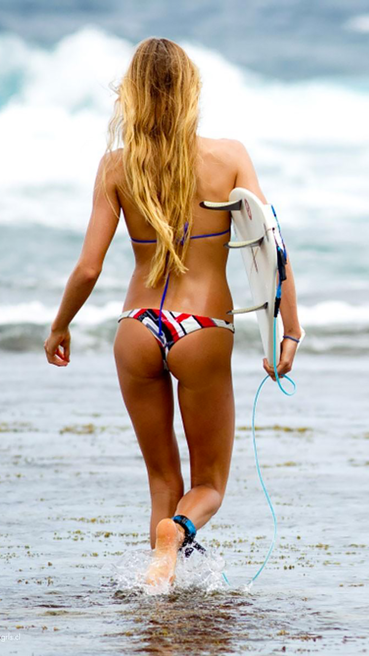 Alana Blanchard beach 3Wallpapers iPhone Parallax Alana Blanchard beach