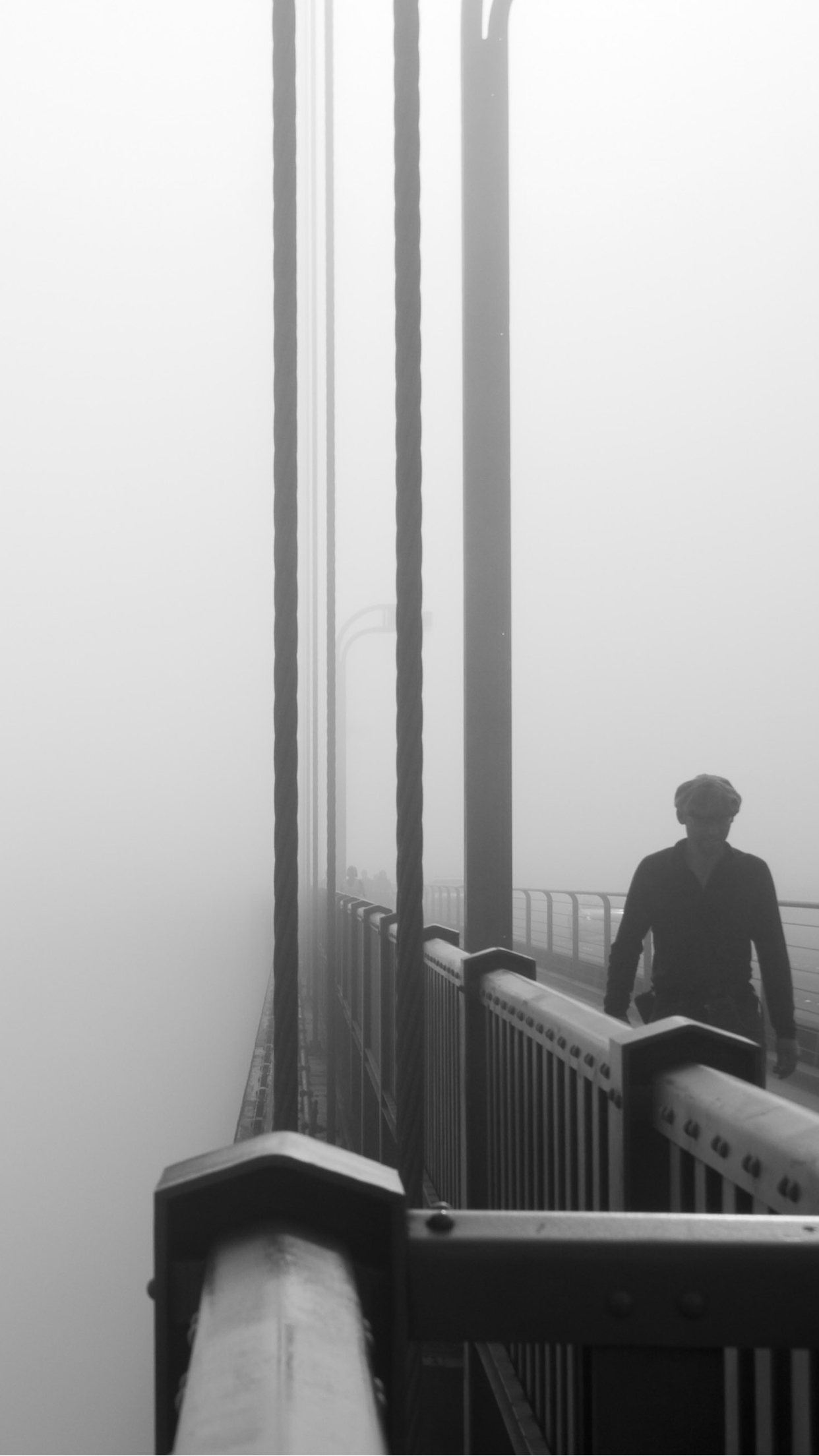 Fog man walking iPhone 3Wallpapers Parallax Fog man walking